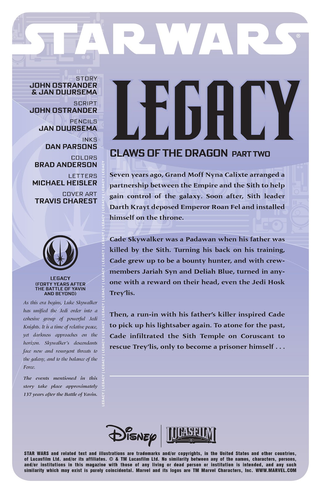 Read online Star Wars Legends: Legacy - Epic Collection comic -  Issue # TPB 1 (Part 4) - 44