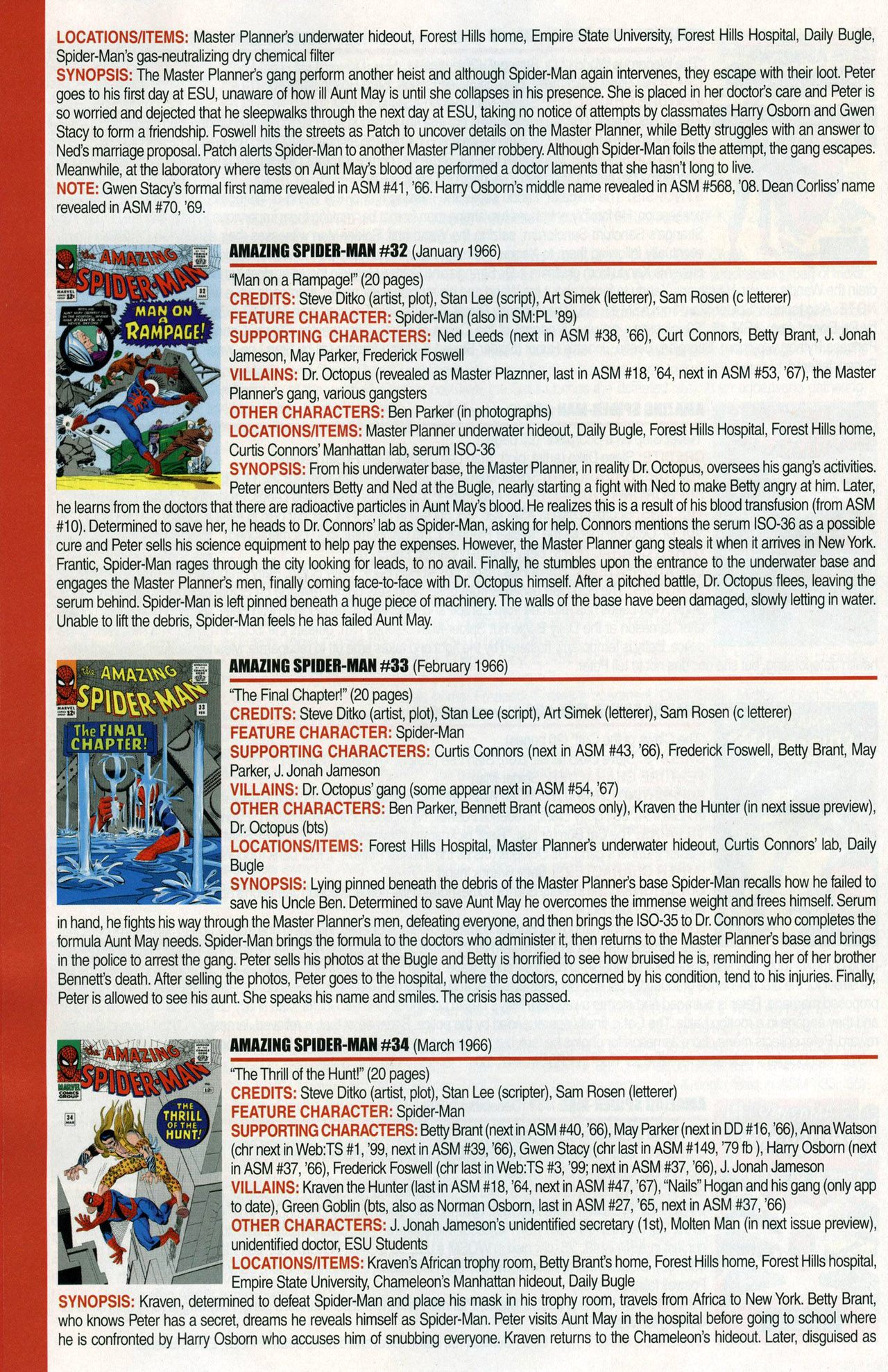 Read online Official Index to the Marvel Universe comic -  Issue #1 - 16