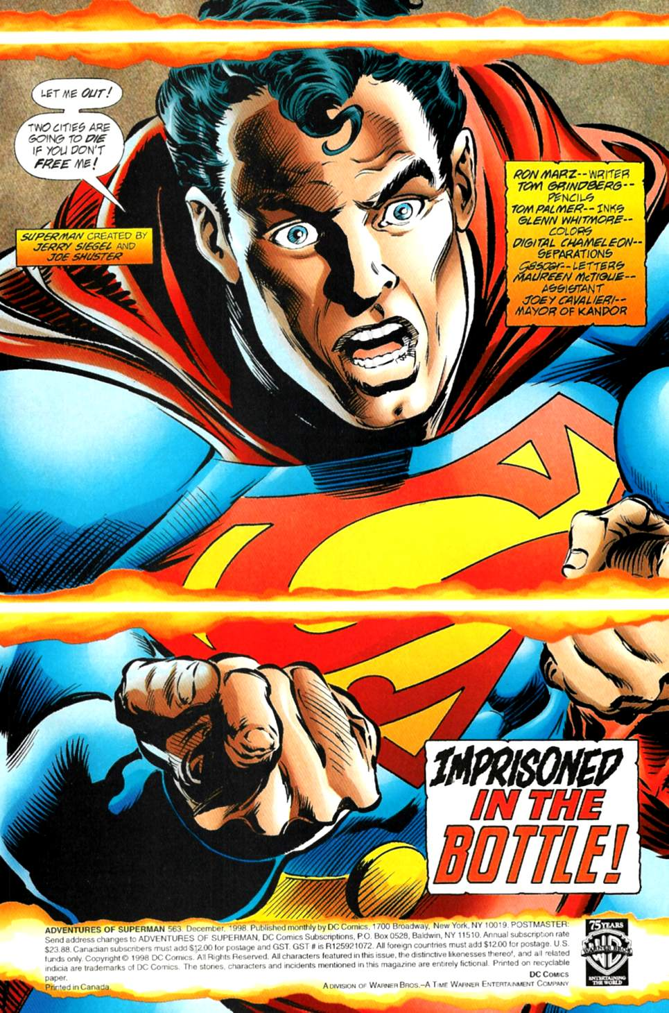 Read online Adventures of Superman (1987) comic -  Issue #563 - 2