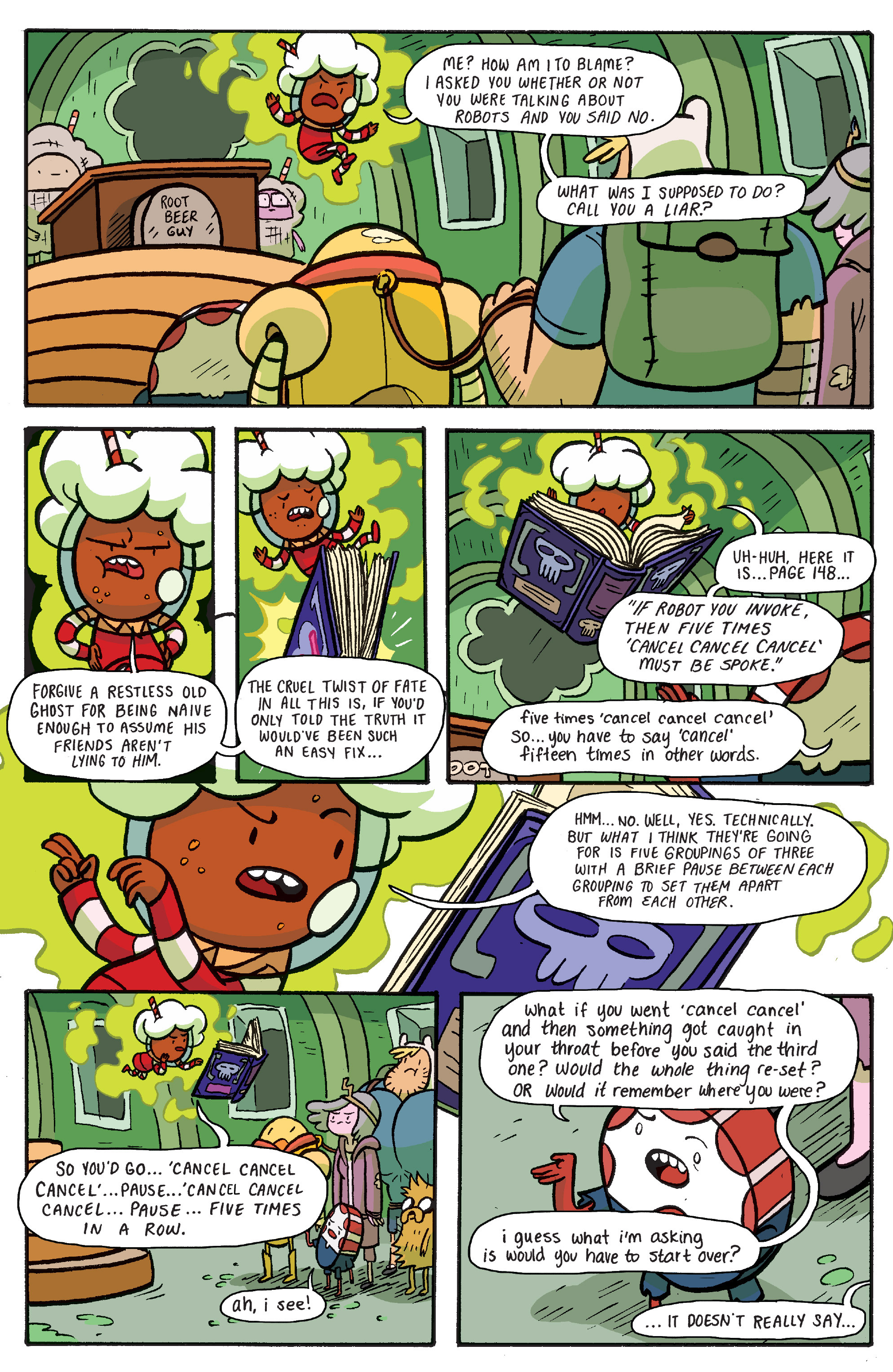 Read online Adventure Time: Banana Guard Academ comic -  Issue #6 - 15