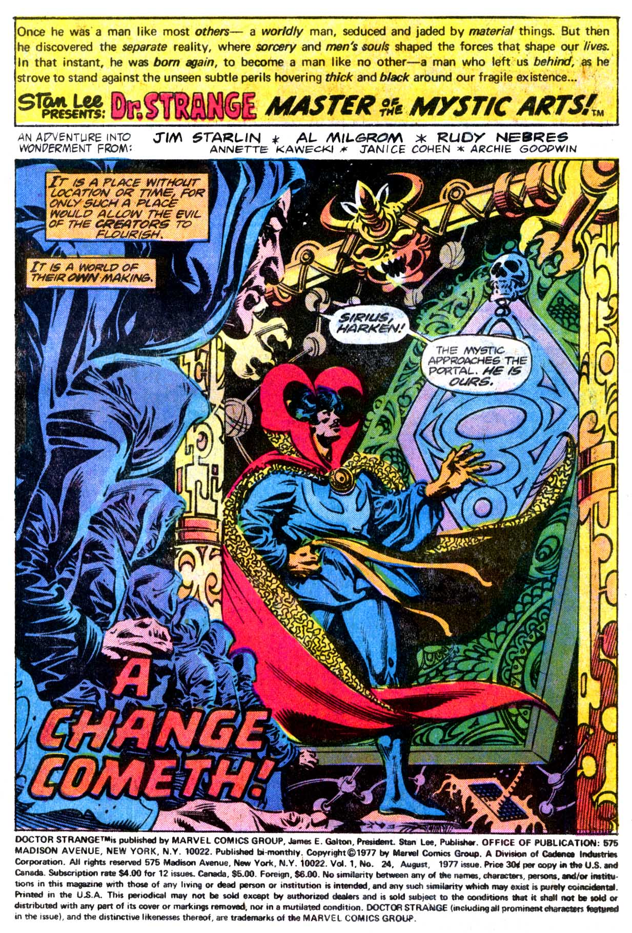 Doctor Strange (1974) 24 Page 2