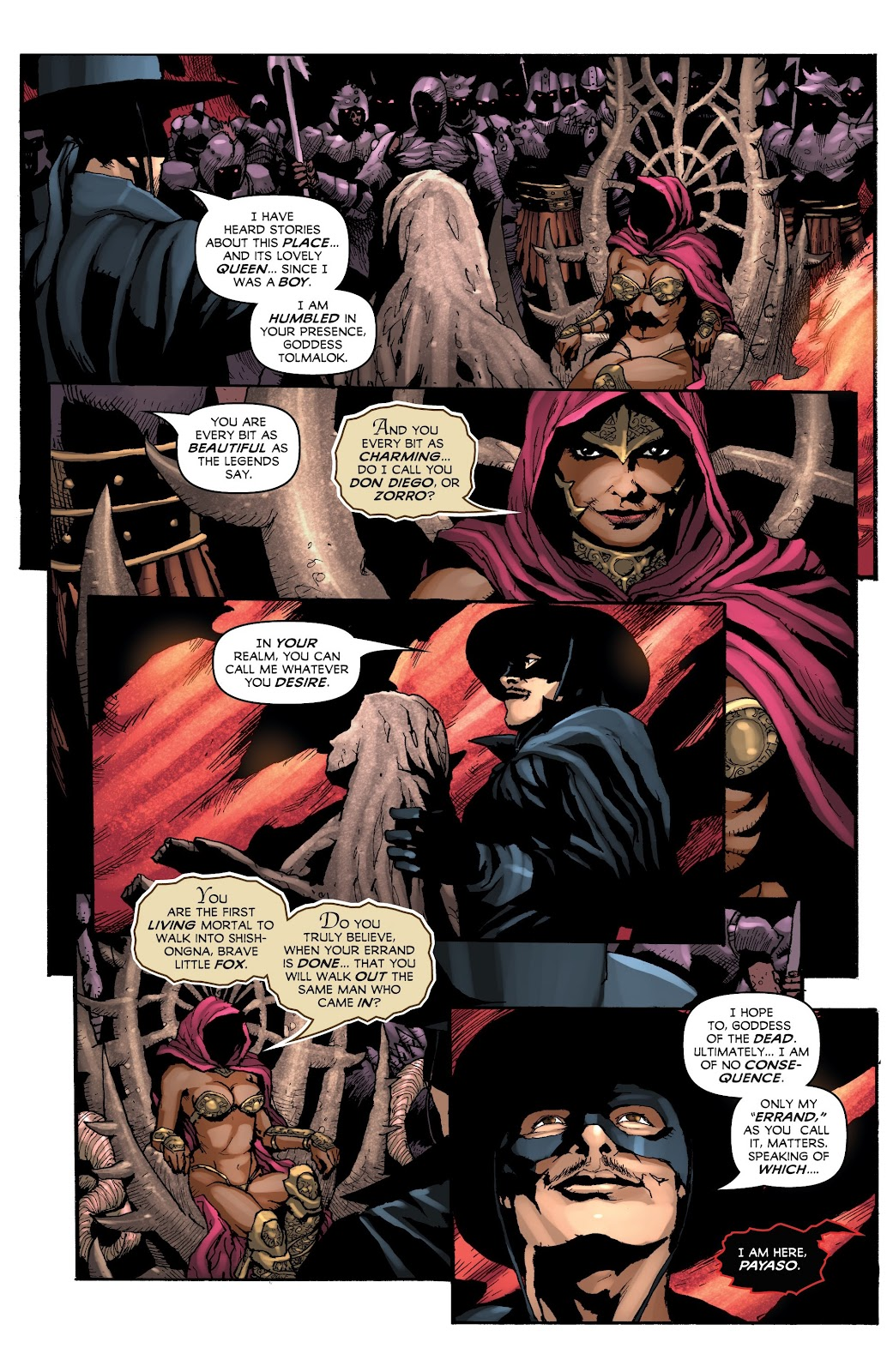 Read online Zorro: Swords of Hell comic -  Issue #4 - 6
