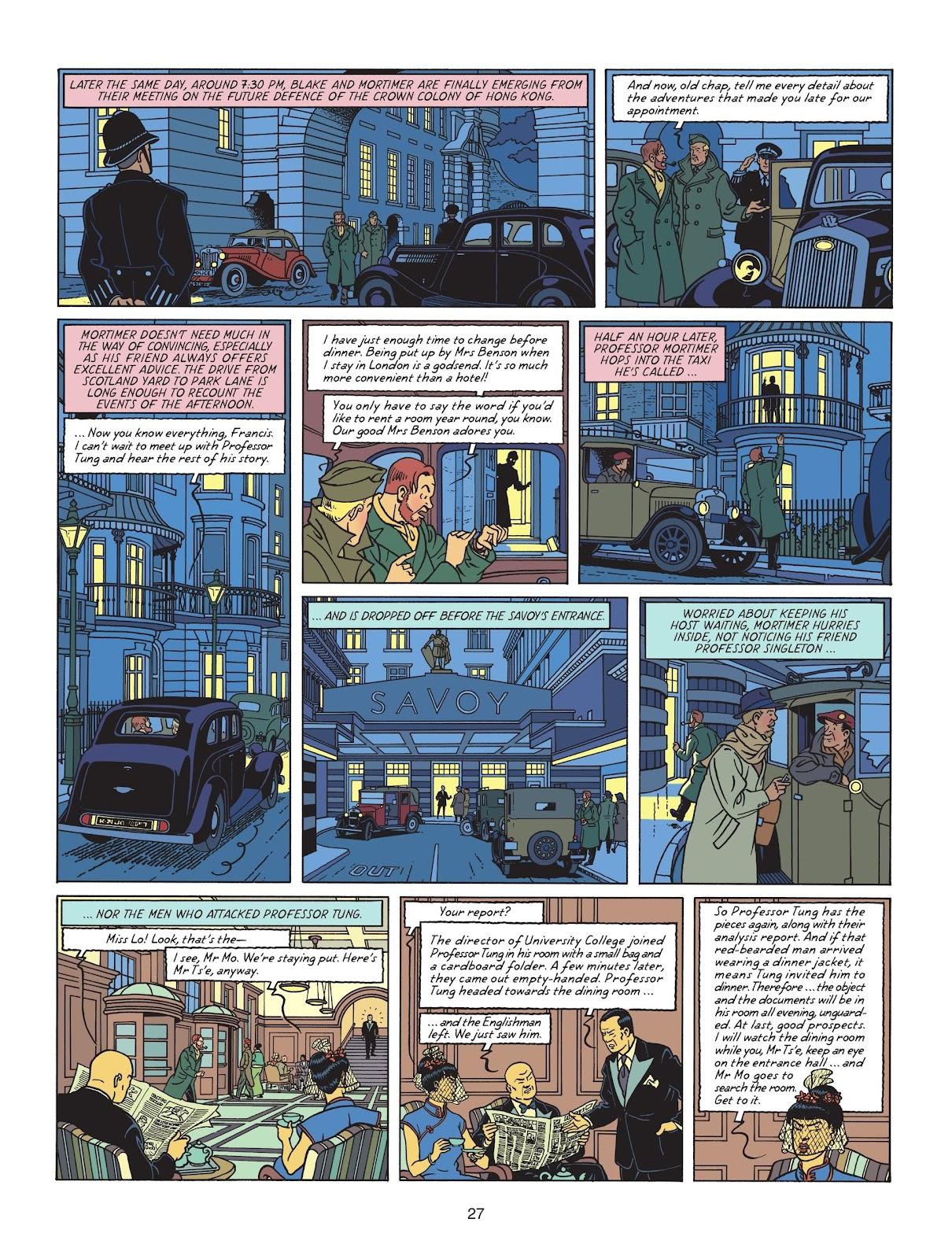 Read online Blake & Mortimer comic -  Issue #25 - 29