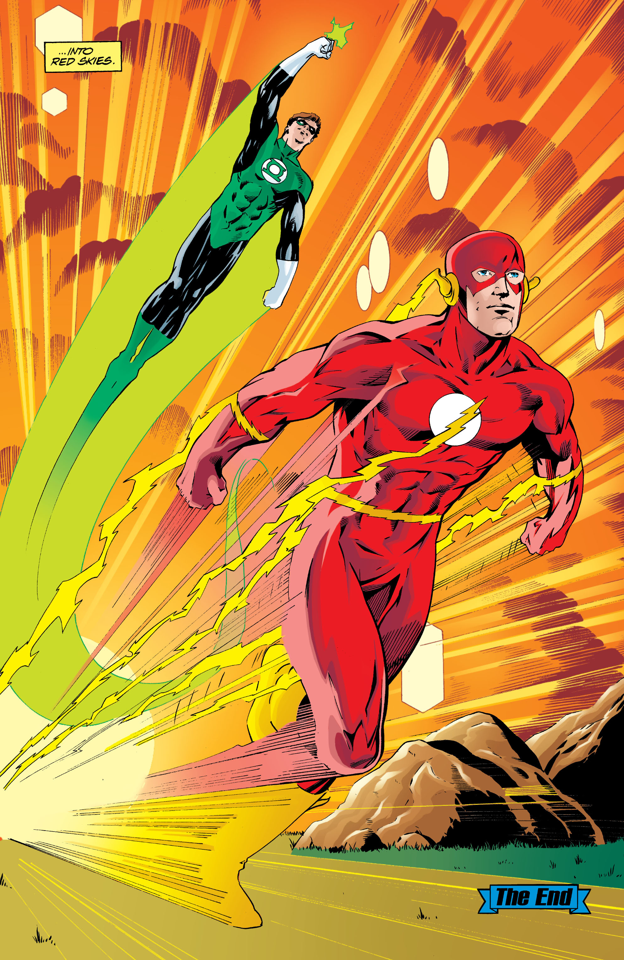 Flash and Green Lantern Running together