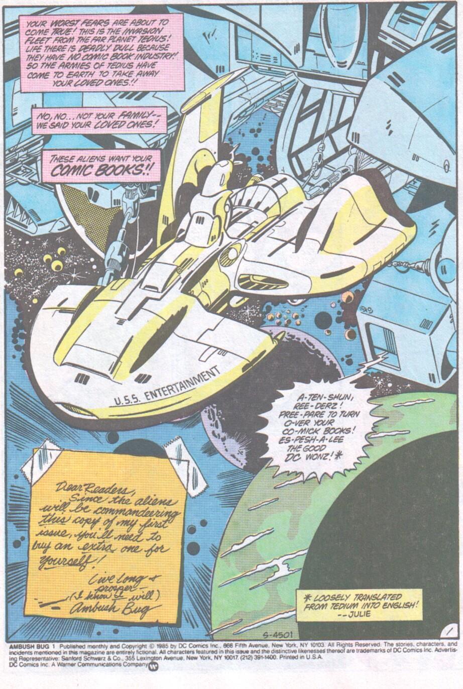 Read online Ambush Bug comic -  Issue #1 - 2