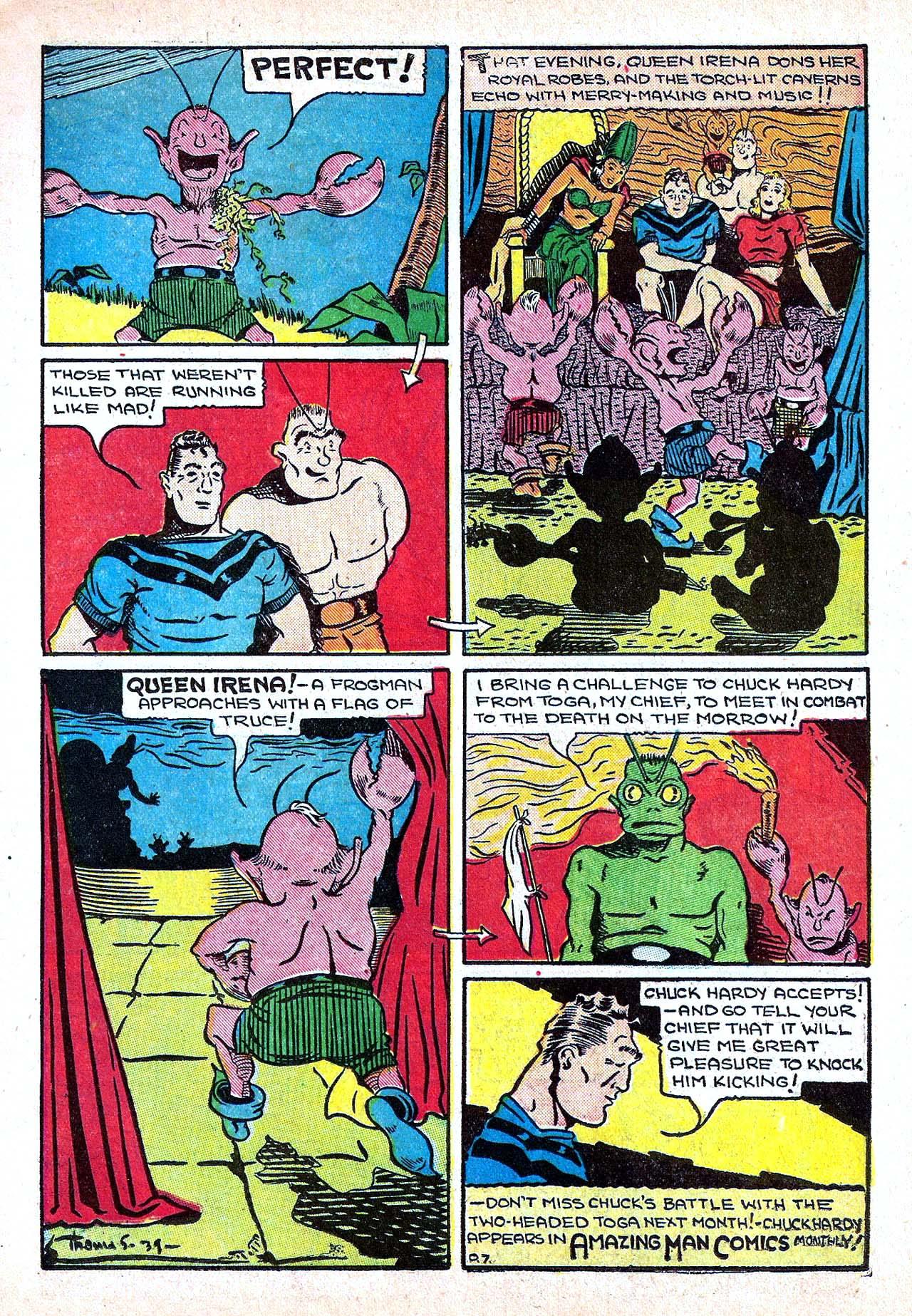 Read online Amazing Man Comics comic -  Issue #11 - 19