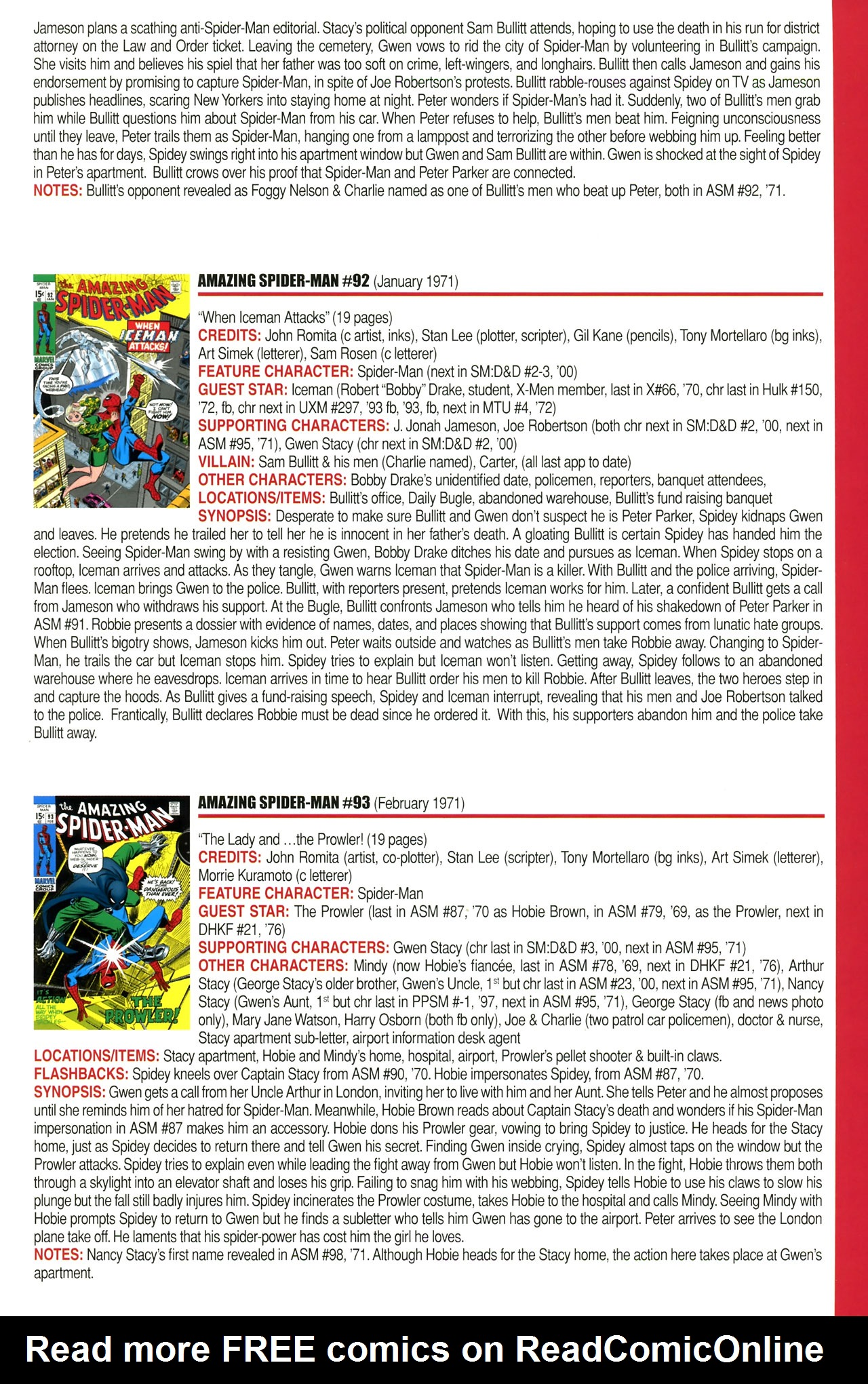 Read online Official Index to the Marvel Universe comic -  Issue #2 - 19