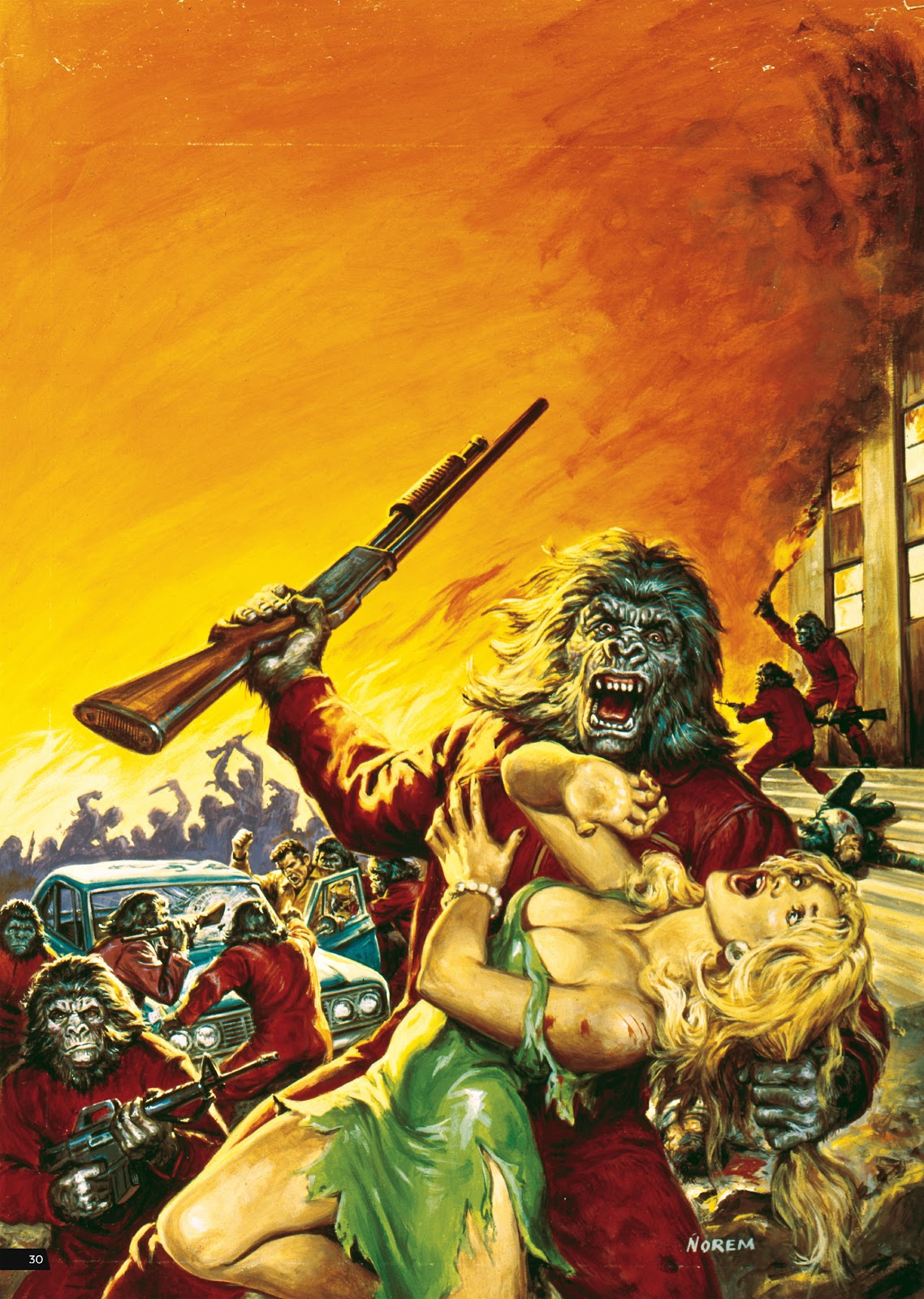 Read online Planet of the Apes Artist Tribute comic -  Issue # TPB - 30