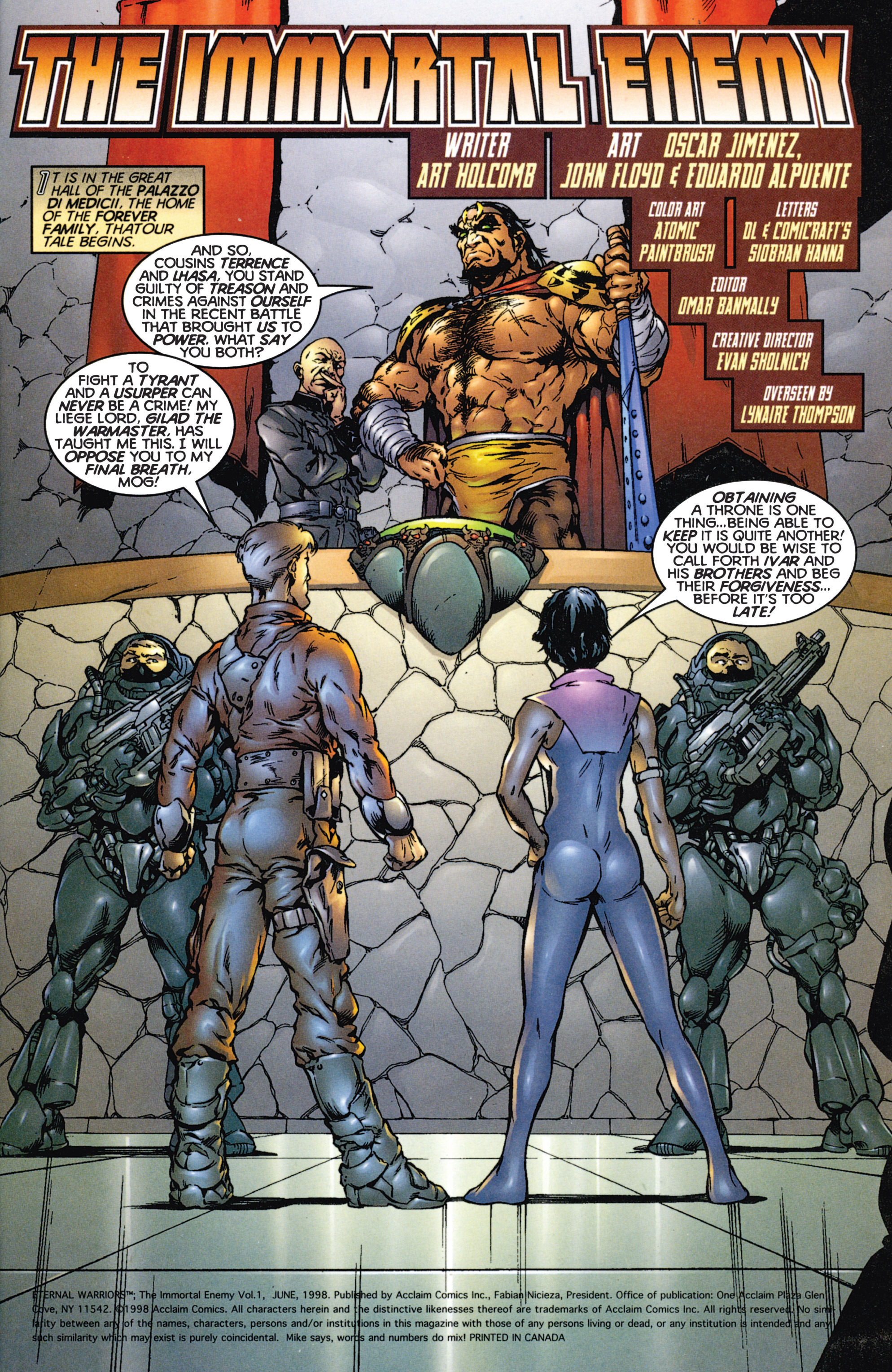 Read online Eternal Warriors comic -  Issue # Issue The Immortal Enemy - 2