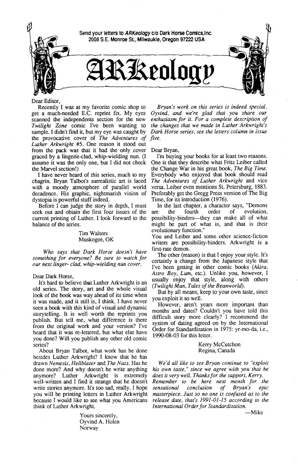 Read online The Adventures of Luther Arkwright comic -  Issue #8 - 29