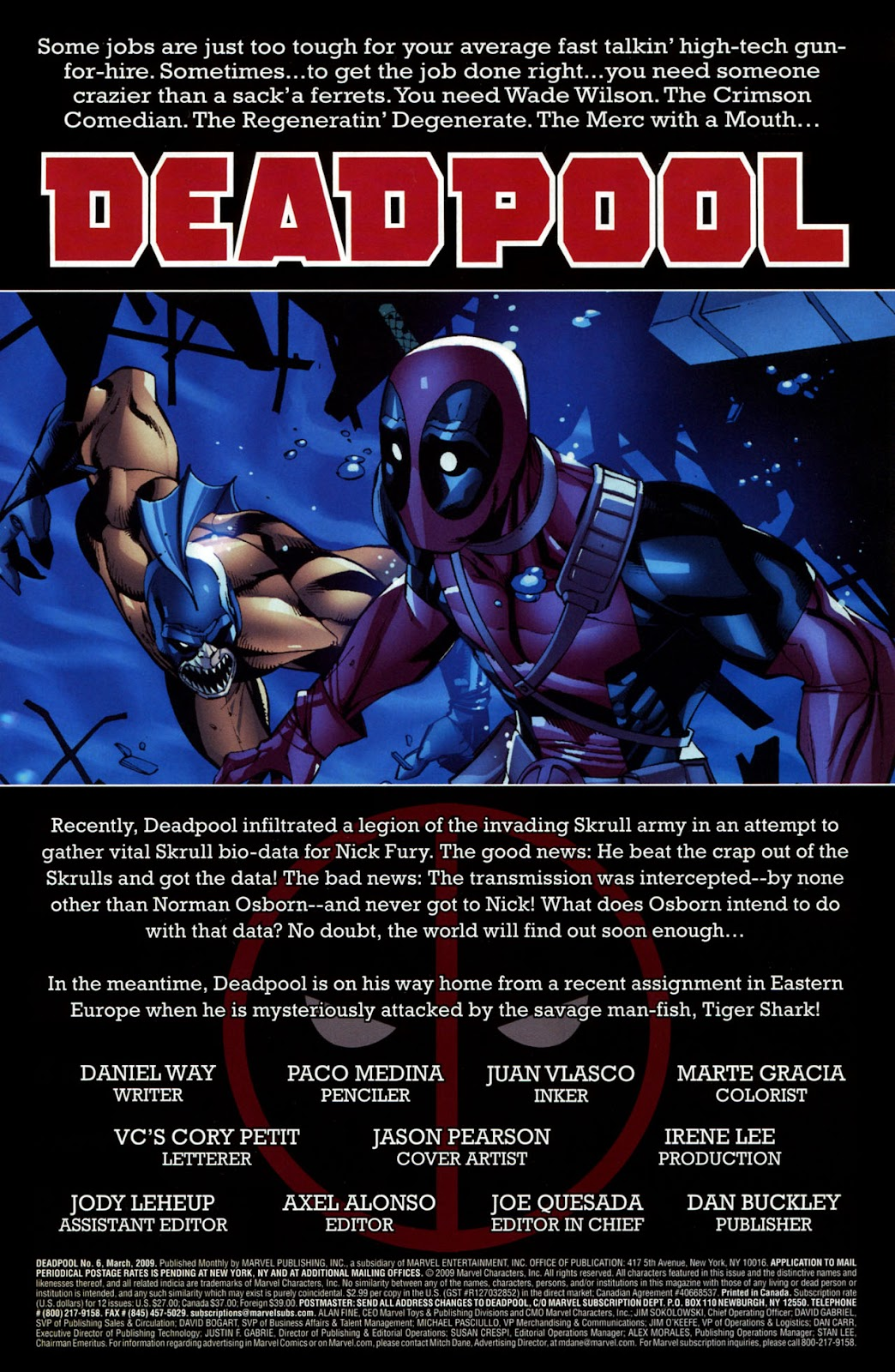 Read online Deadpool (2008) comic -  Issue #6 - 2