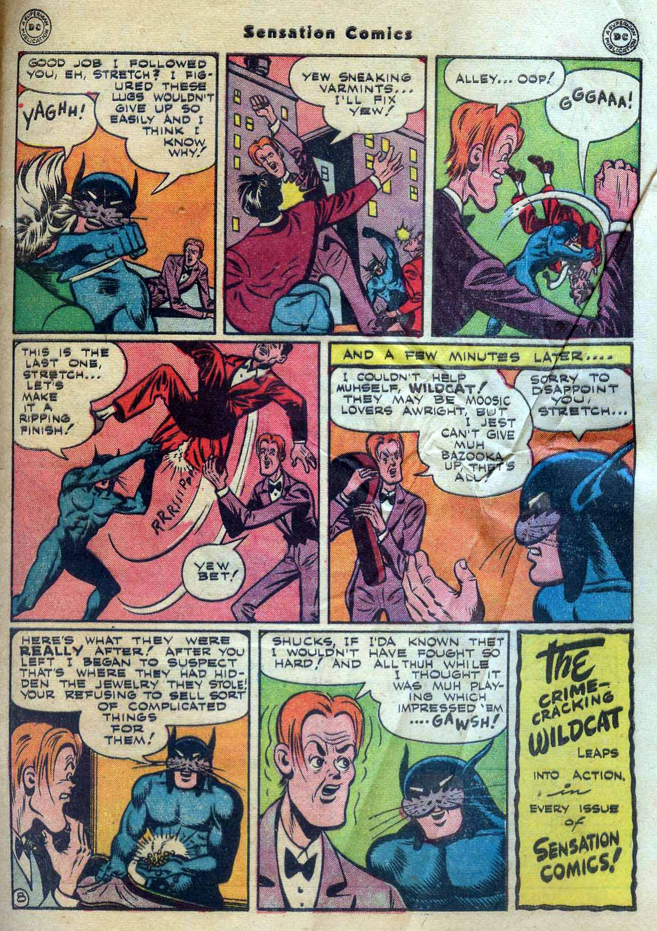 Read online Sensation (Mystery) Comics comic -  Issue #56 - 49
