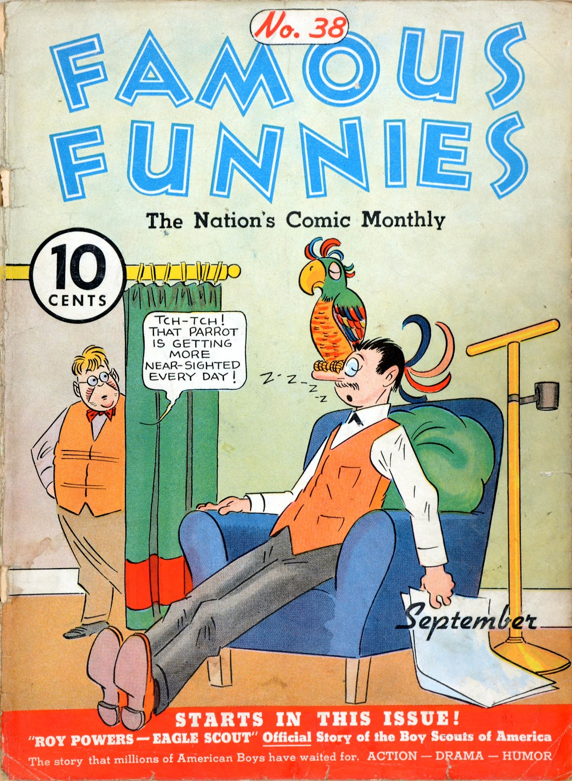 Read online Famous Funnies comic -  Issue #38 - 1