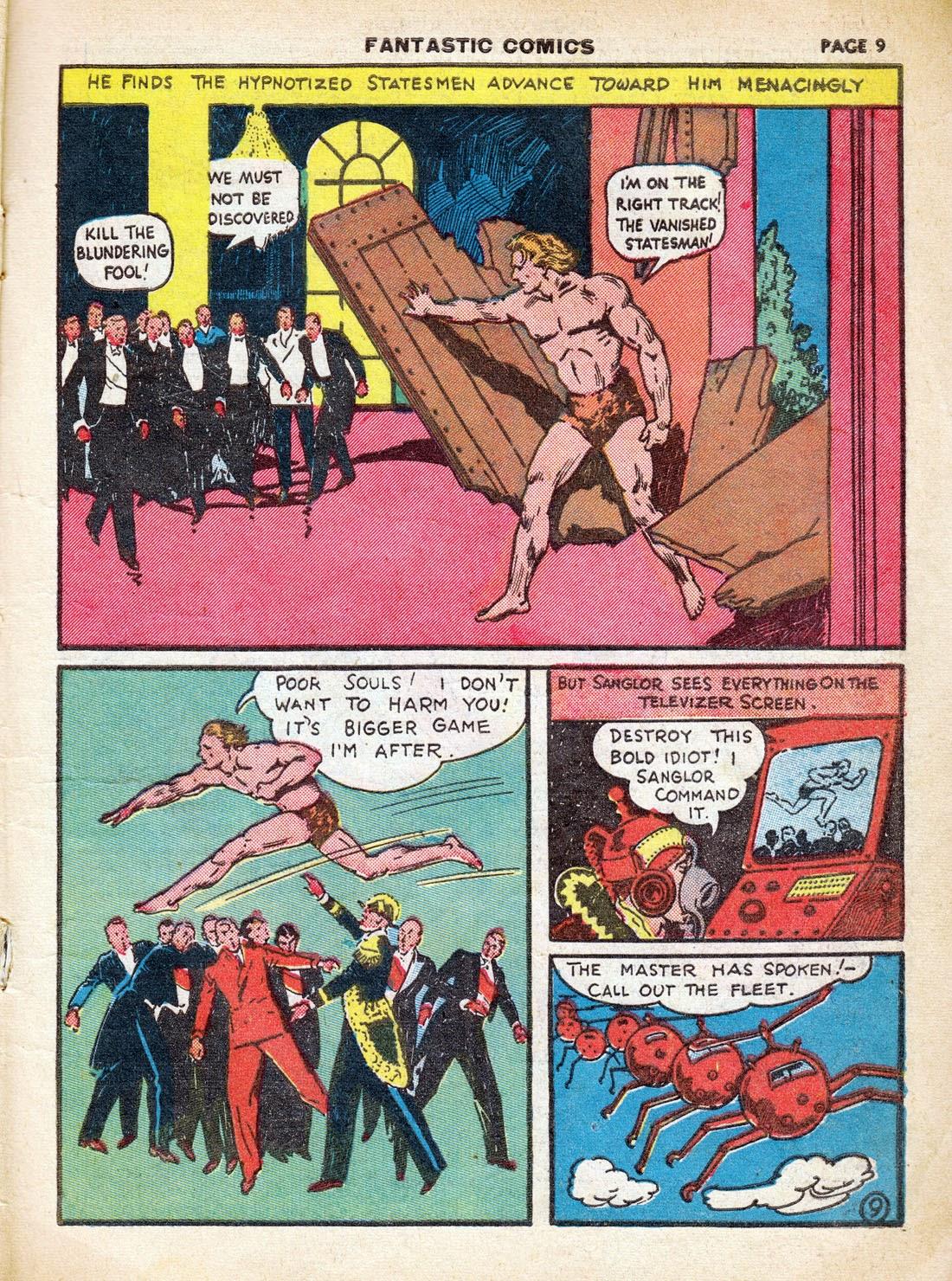 Read online Fantastic Comics comic -  Issue #7 - 11