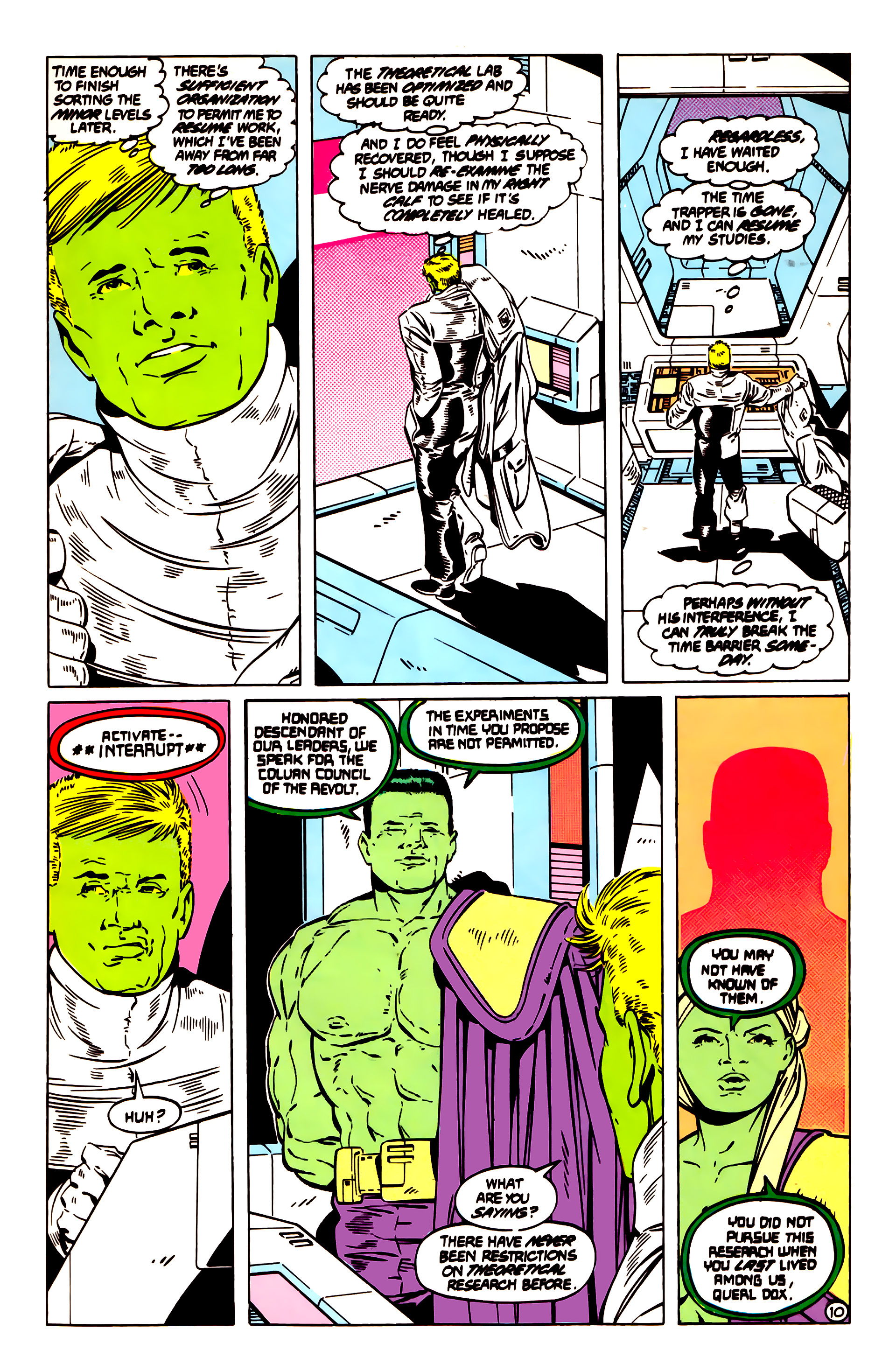 Legion of Super-Heroes (1984) 55 Page 10