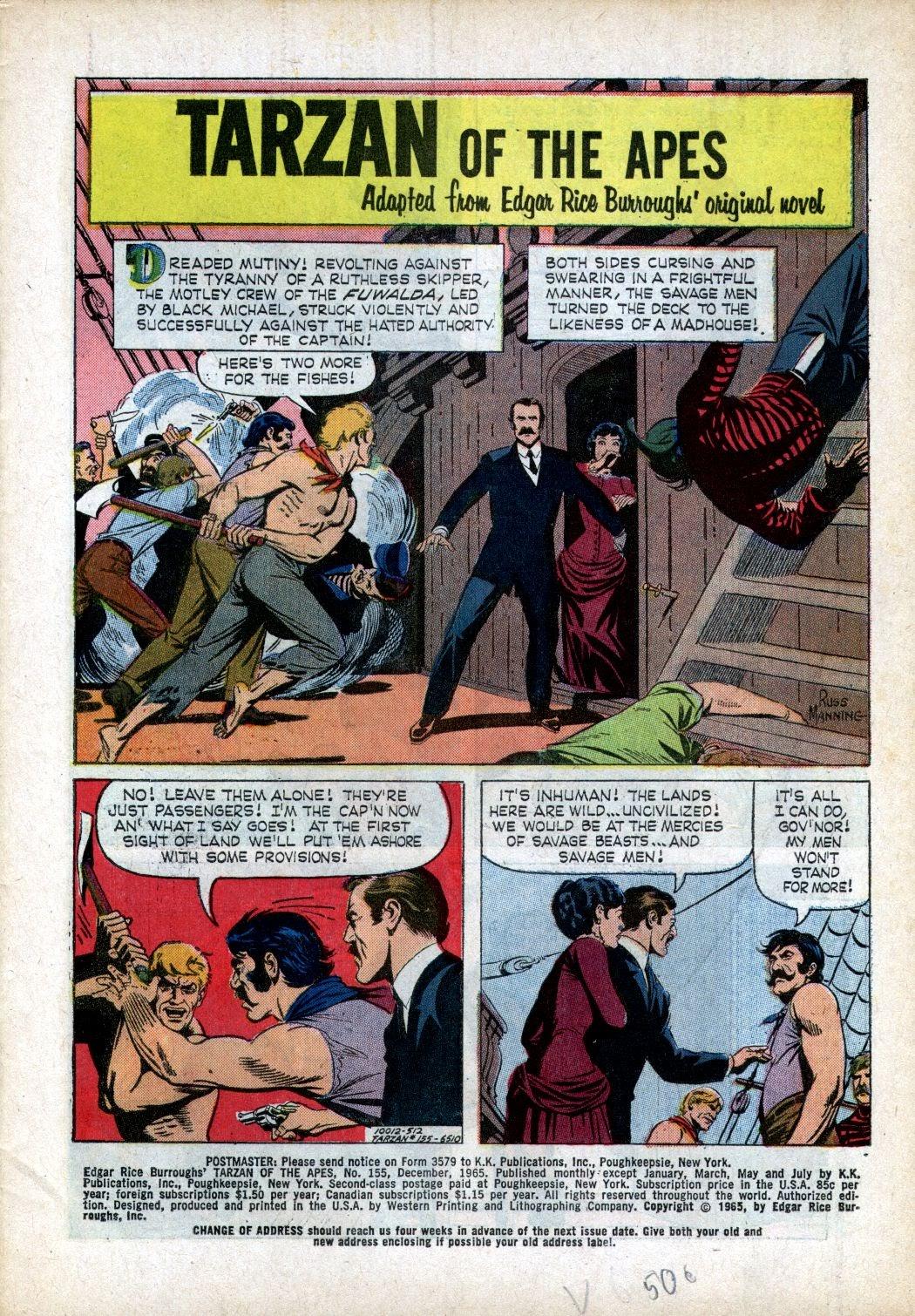 Tarzan (1962) issue 155 - Page 1