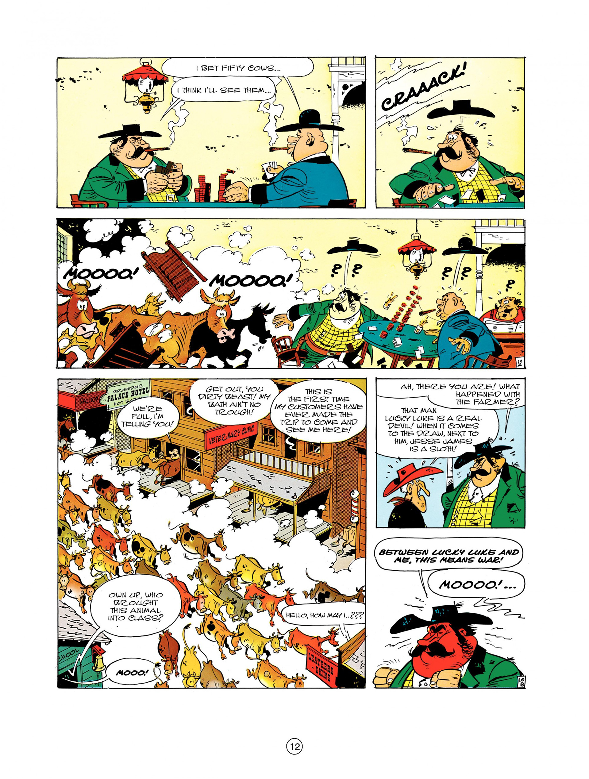 Read online A Lucky Luke Adventure comic -  Issue #7 - 12