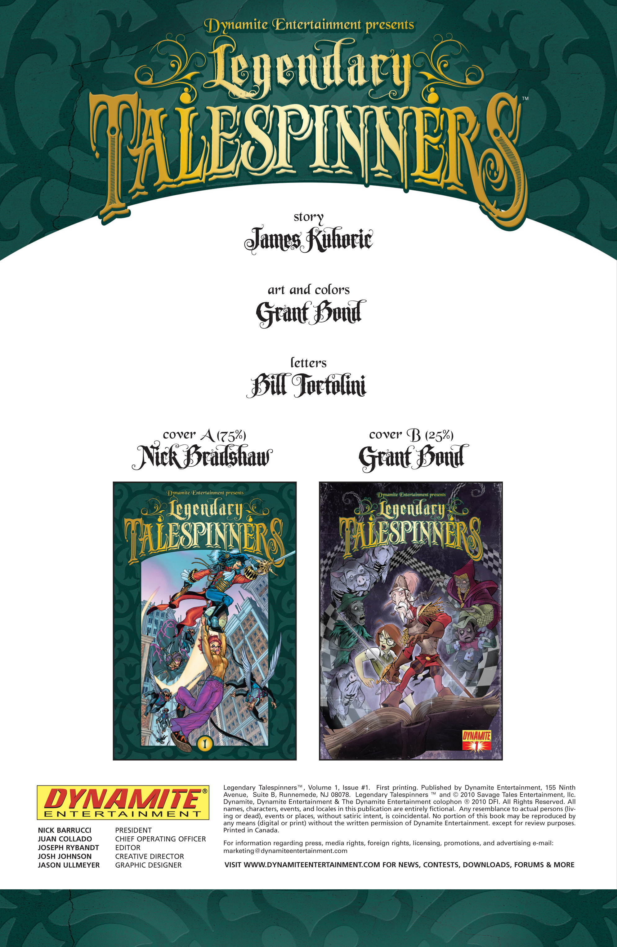 Read online Legendary Talespinners comic -  Issue #1 - 3