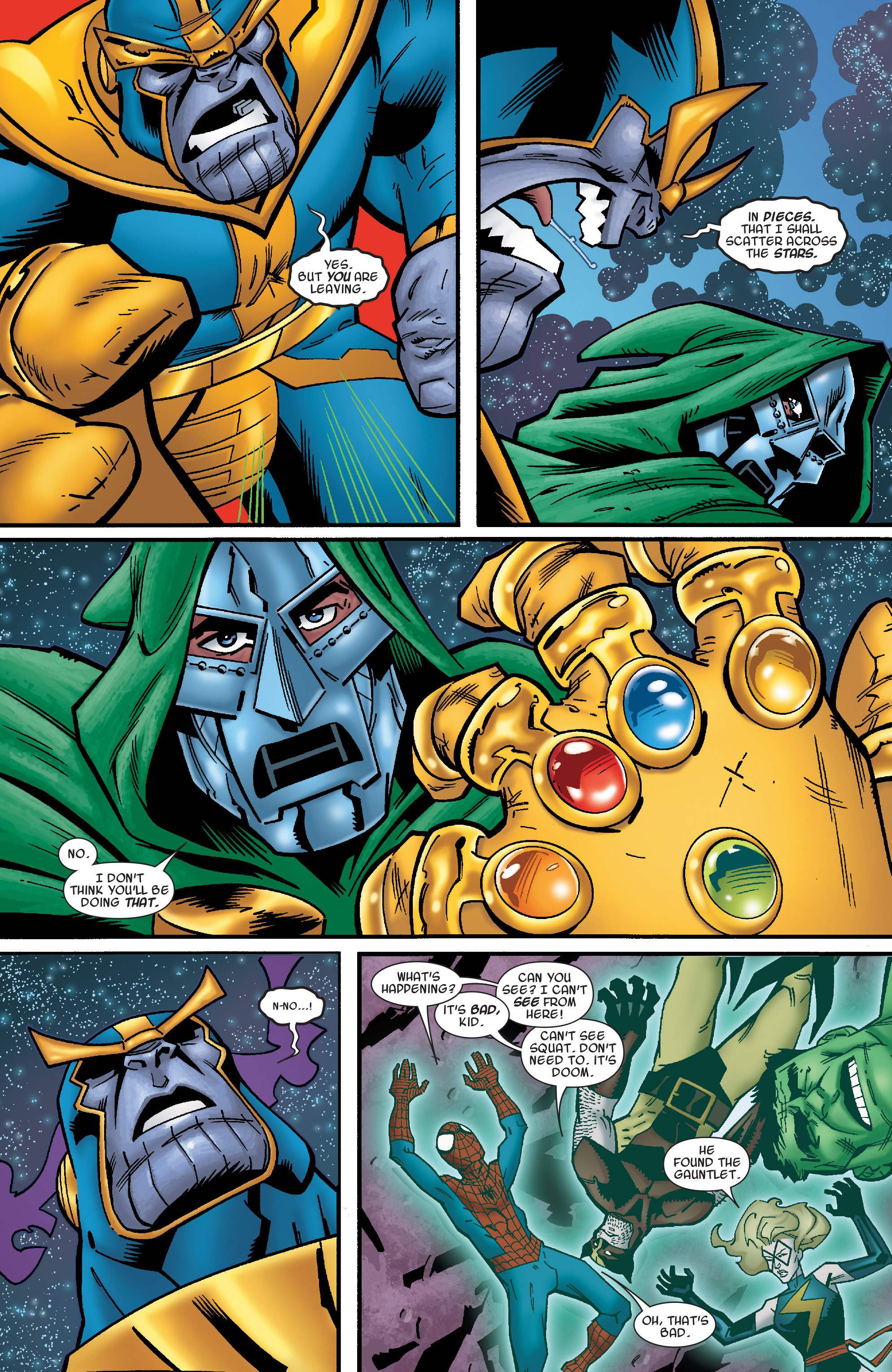 Read online Avengers & the Infinity Gauntlet comic -  Issue #4 - 12