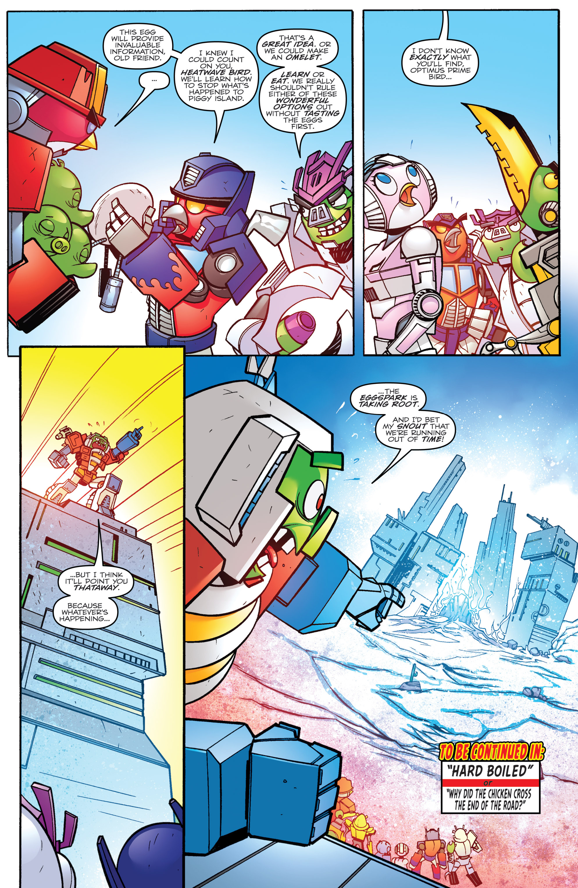 Read online Angry Birds Transformers comic -  Issue #3 - 21