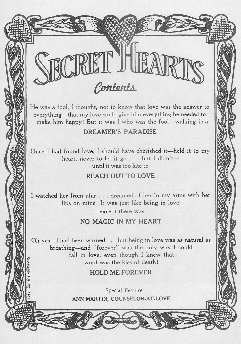 Read online Secret Hearts comic -  Issue #72 - 2