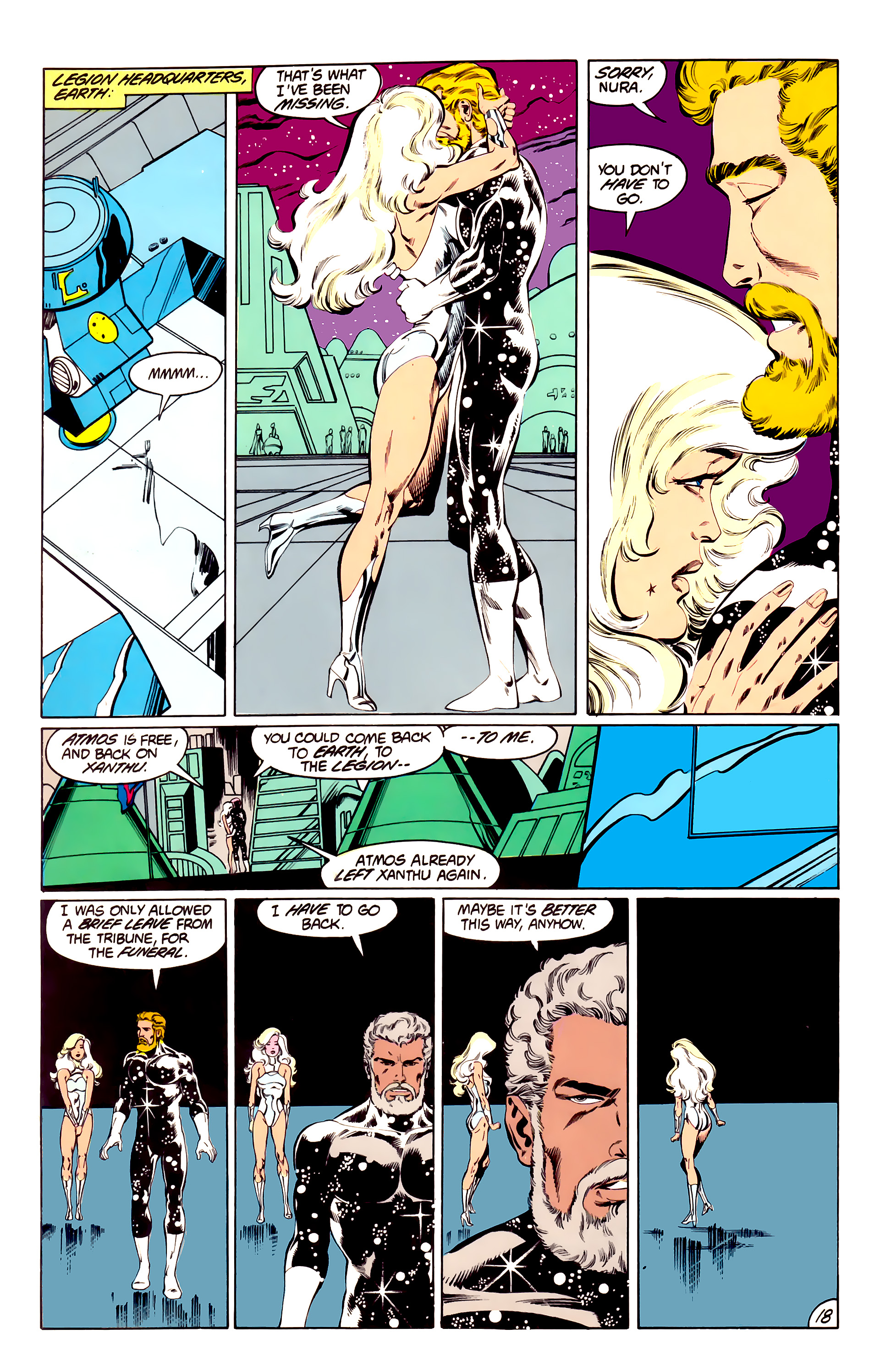 Legion of Super-Heroes (1984) 40 Page 18