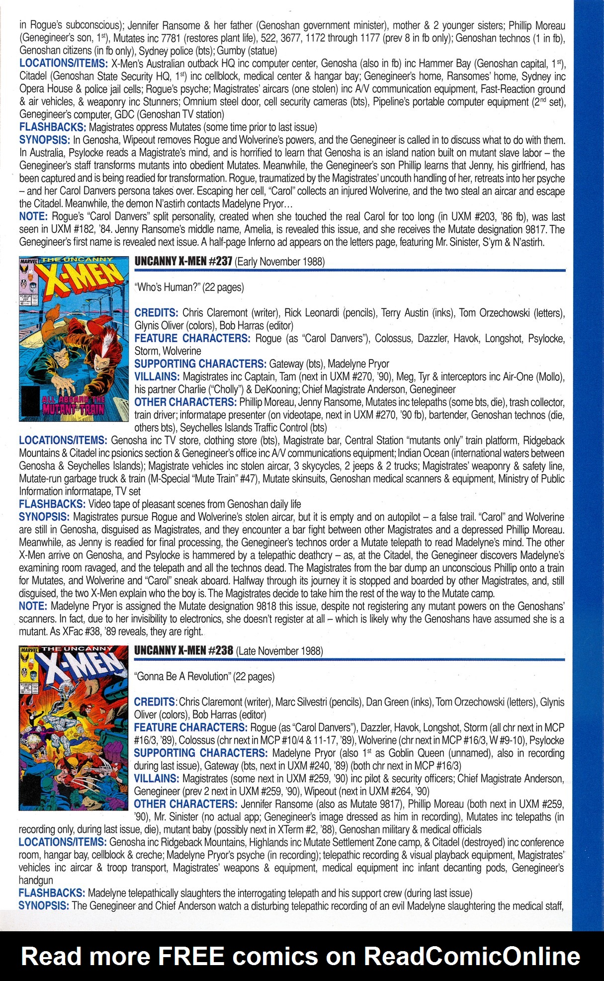 Read online Official Index to the Marvel Universe comic -  Issue #6 - 49