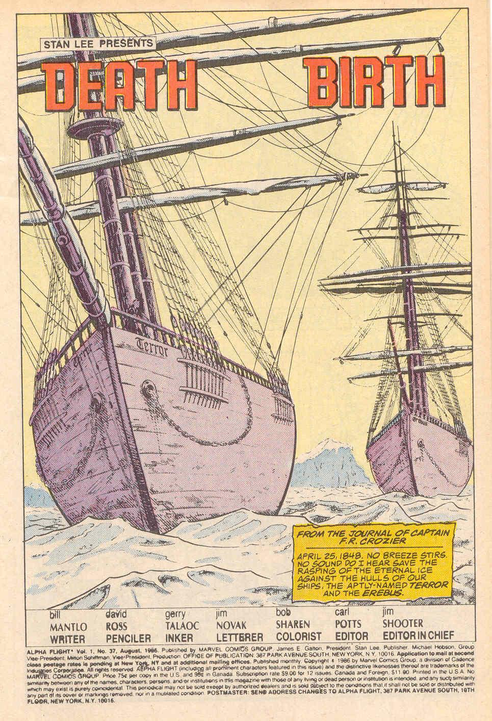 Read online Alpha Flight (1983) comic -  Issue #37 - 2