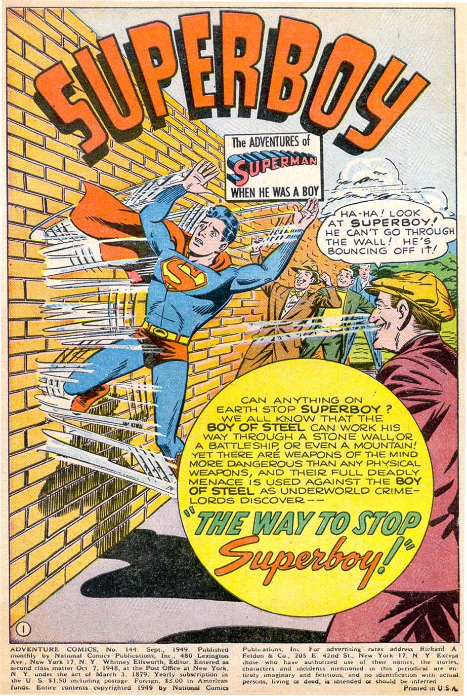 Read online Adventure Comics (1938) comic -  Issue #144 - 2