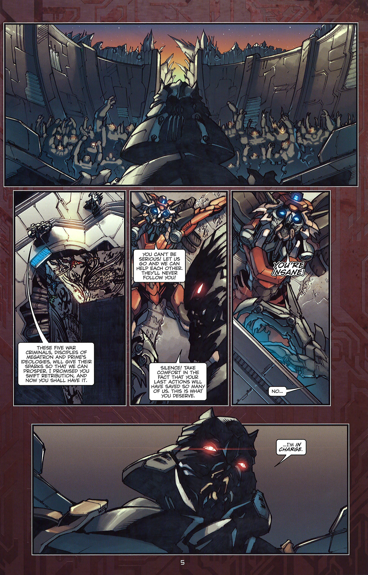 Read online Transformers: The Reign of Starscream comic -  Issue #5 - 8