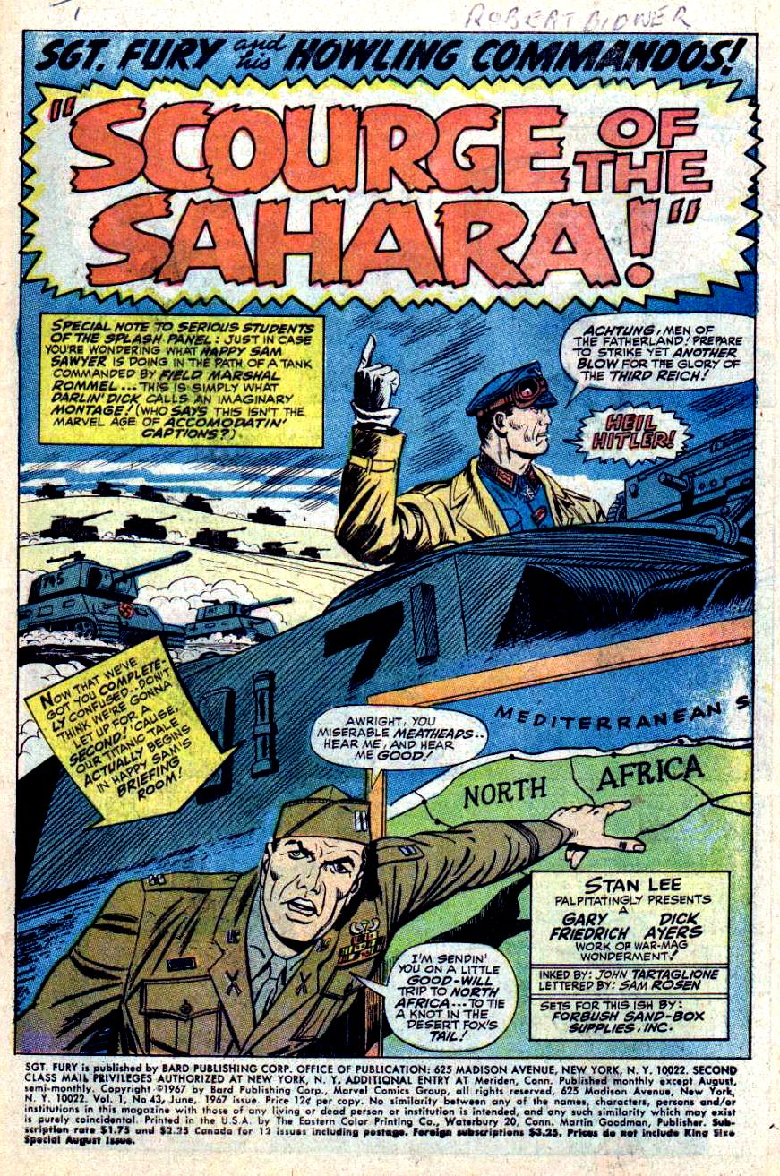 Read online Sgt. Fury comic -  Issue #43 - 3