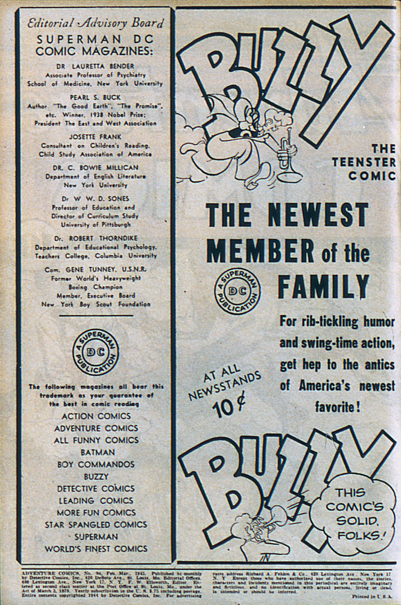 Read online Adventure Comics (1938) comic -  Issue #96 - 3