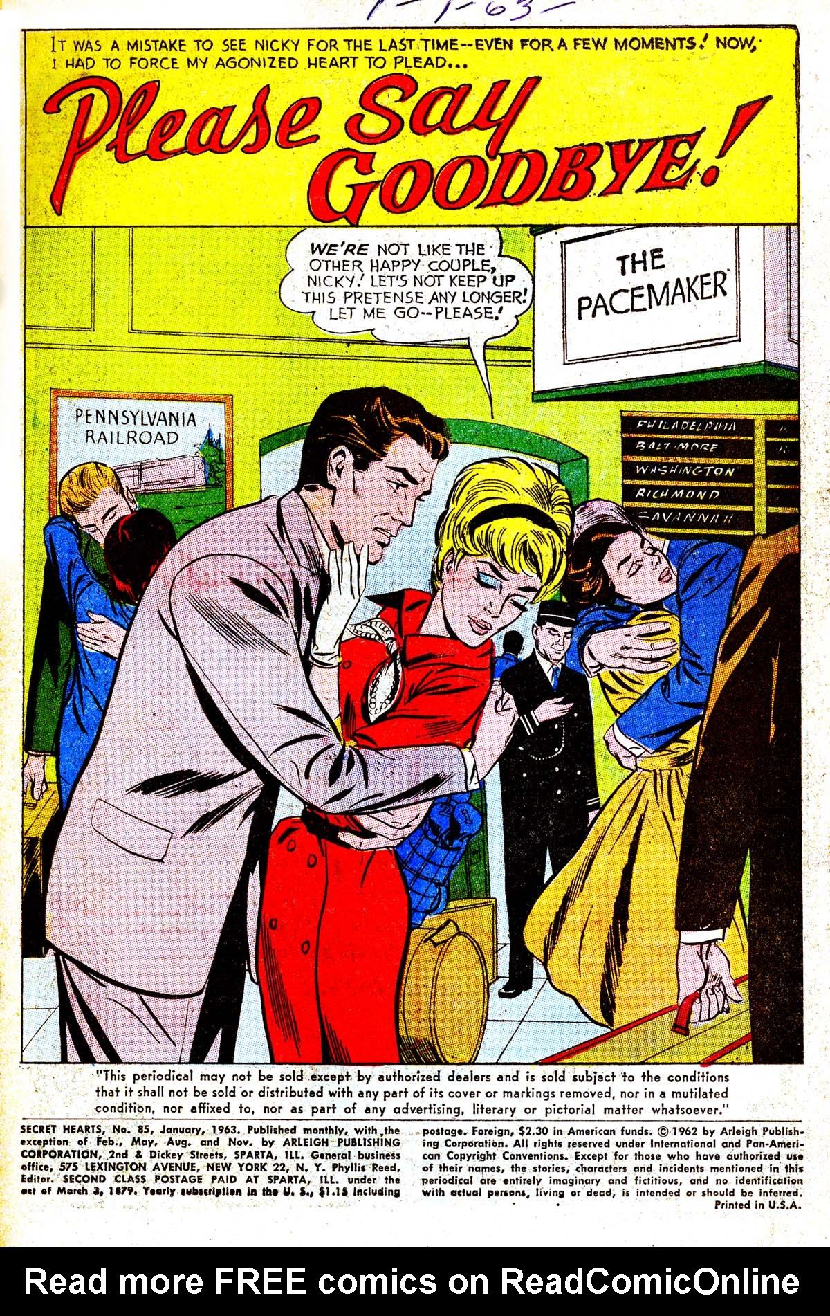 Read online Secret Hearts comic -  Issue #85 - 3