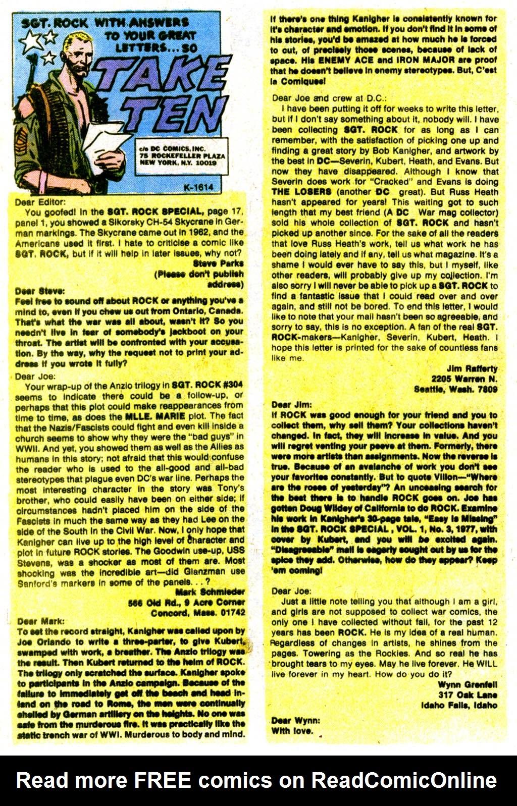 Read online Sgt. Rock comic -  Issue #317 - 27