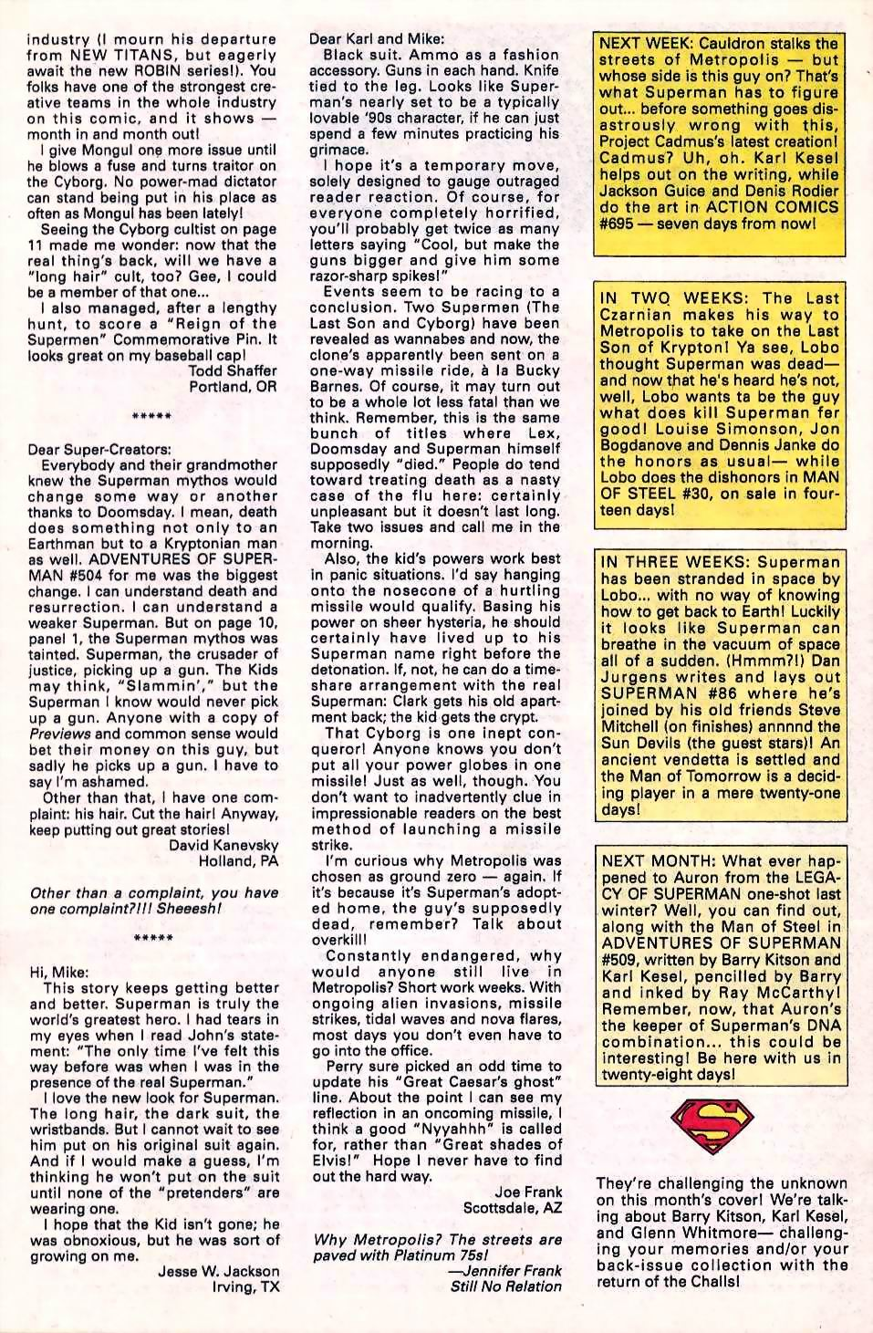 Read online Adventures of Superman (1987) comic -  Issue #508 - 26