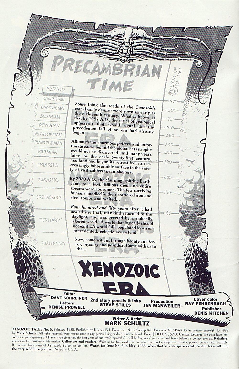 Read online Xenozoic Tales comic -  Issue #5 - 3
