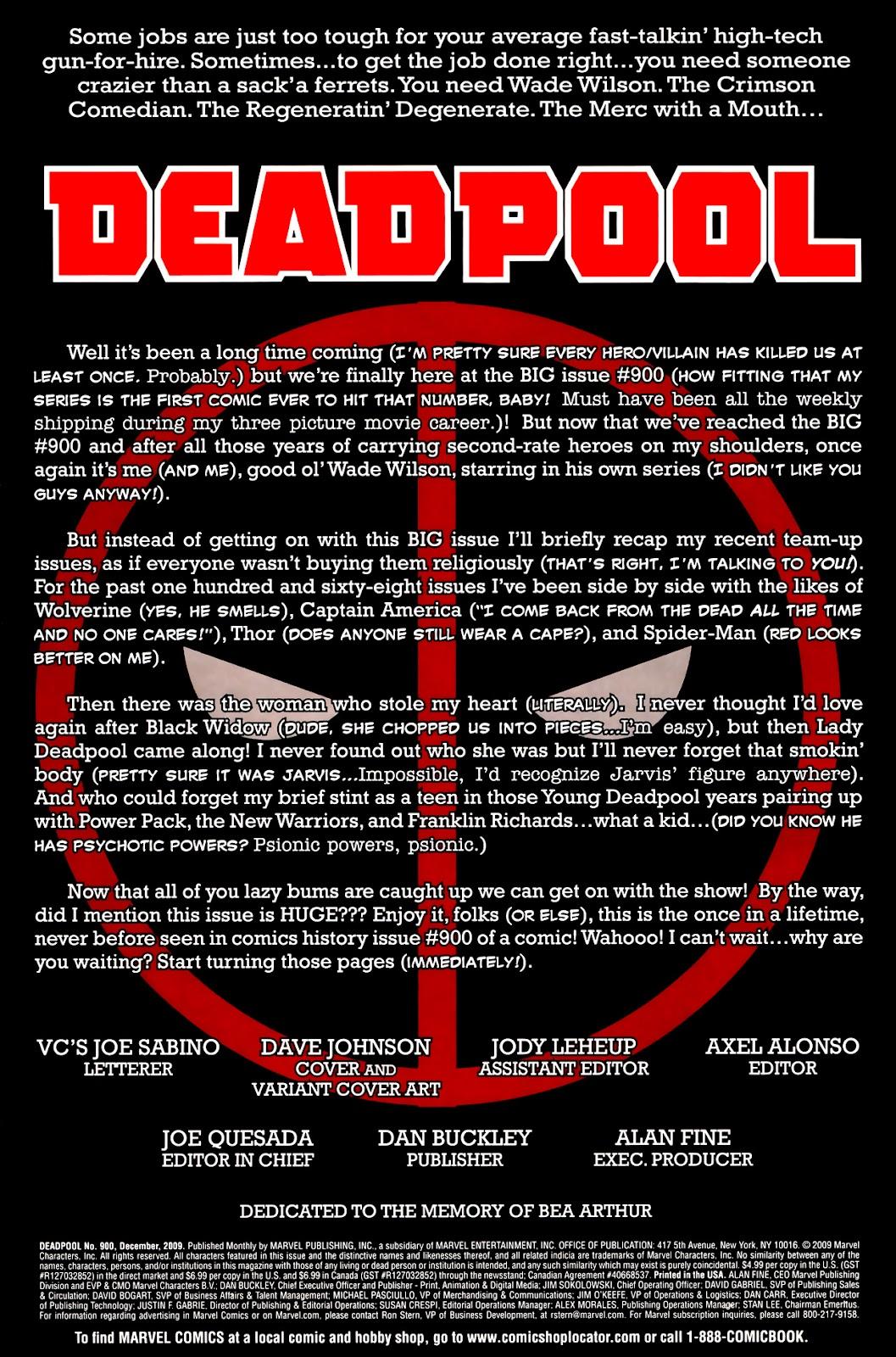 Read online Deadpool (2008) comic -  Issue #900 - 4