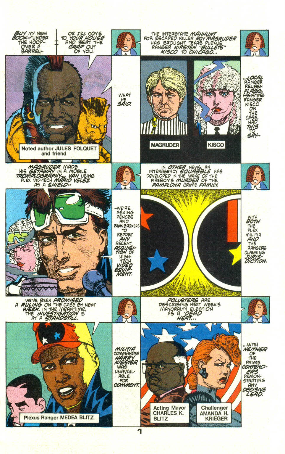 Read online American Flagg! comic -  Issue #21 - 3
