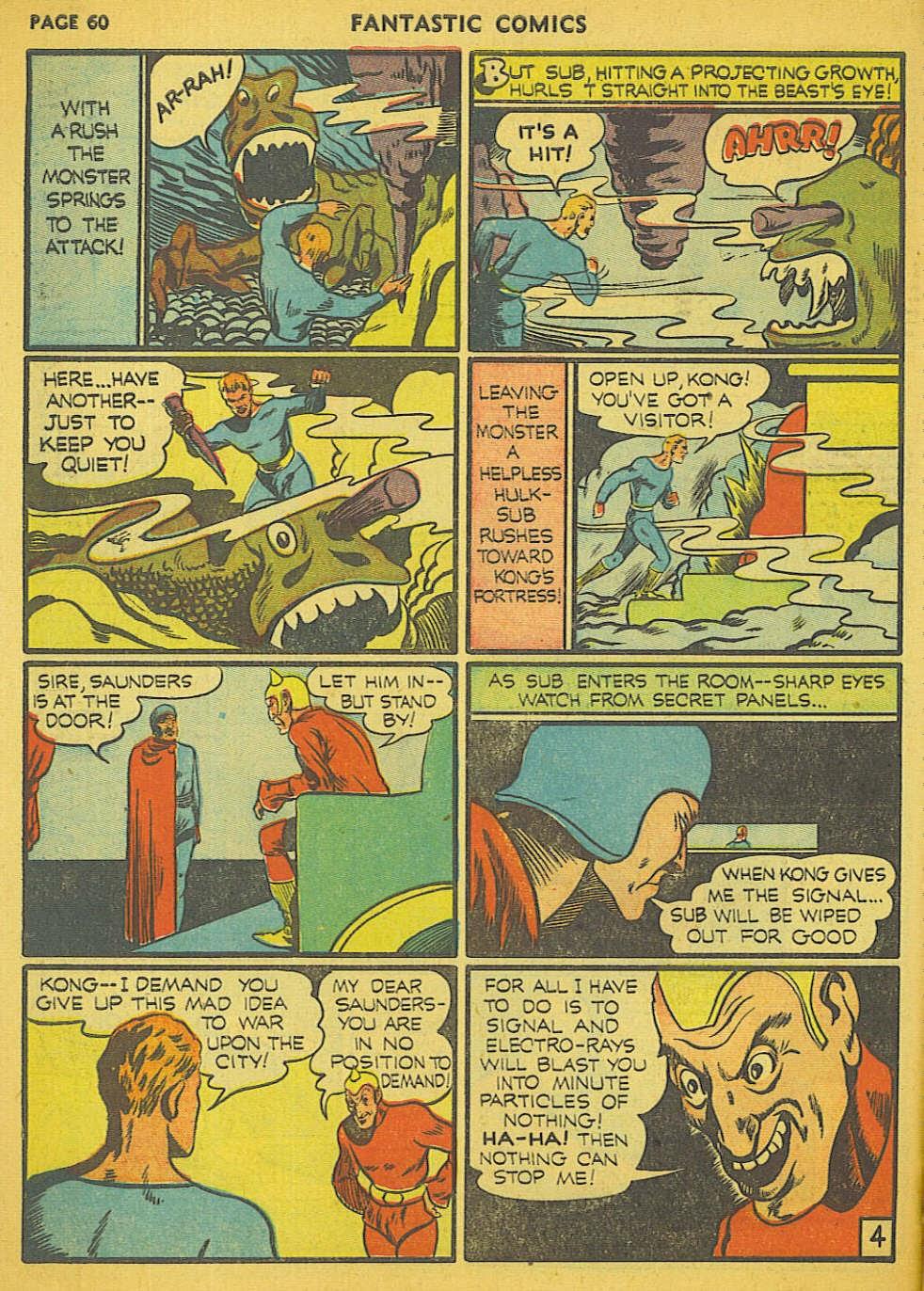 Read online Fantastic Comics comic -  Issue #15 - 56