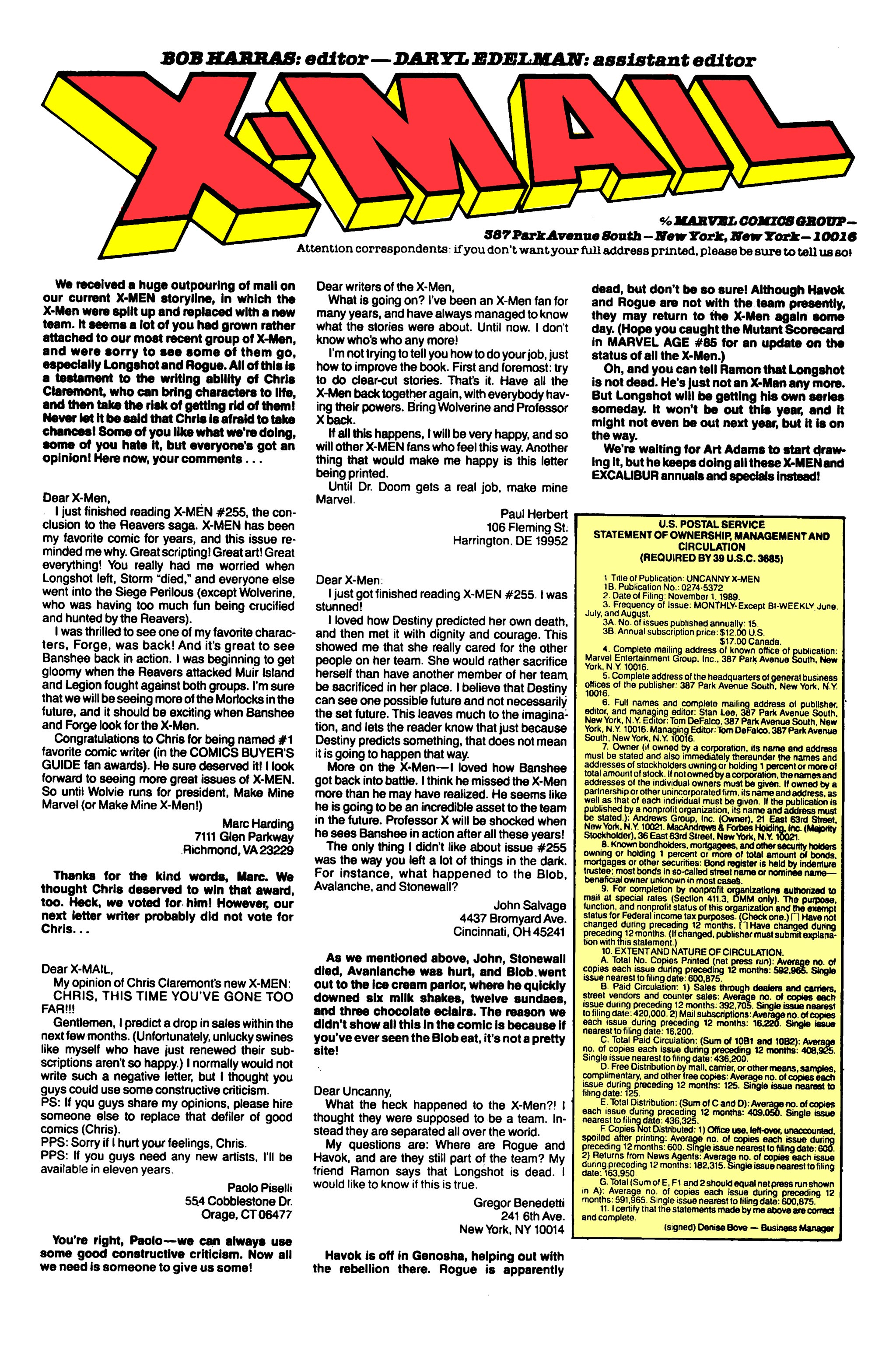 Read online Uncanny X-Men (1963) comic -  Issue #261 - 24