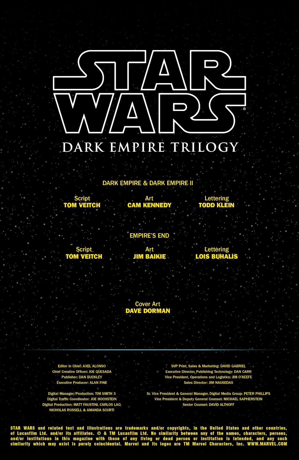Read online Star Wars: Dark Empire Trilogy comic -  Issue # TPB (Part 1) - 2