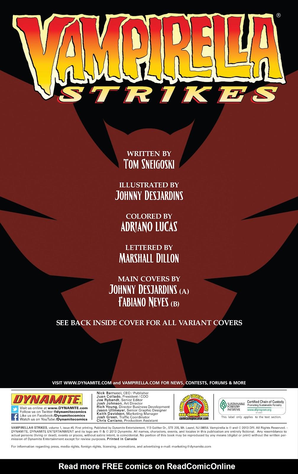 Read online Vampirella Strikes comic -  Issue #5 - 3