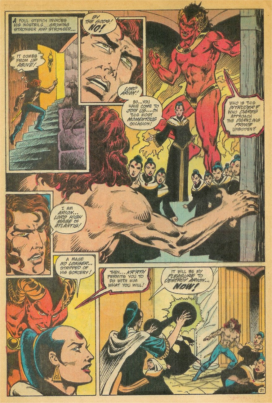 Read online Arion, Lord of Atlantis comic -  Issue #26 - 22