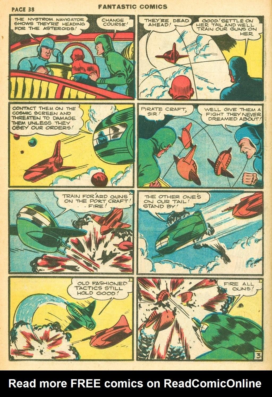 Read online Fantastic Comics comic -  Issue #12 - 40