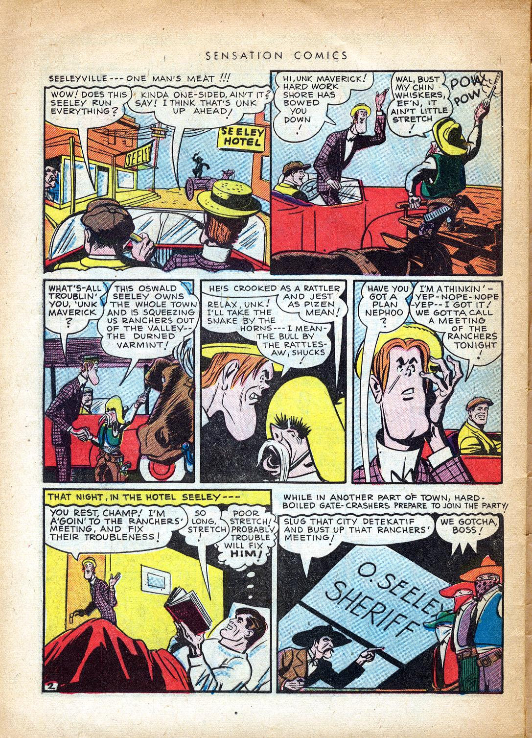 Read online Sensation (Mystery) Comics comic -  Issue #37 - 42