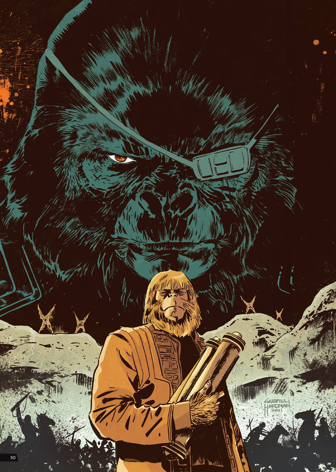 Read online Planet of the Apes Artist Tribute comic -  Issue # TPB - 50