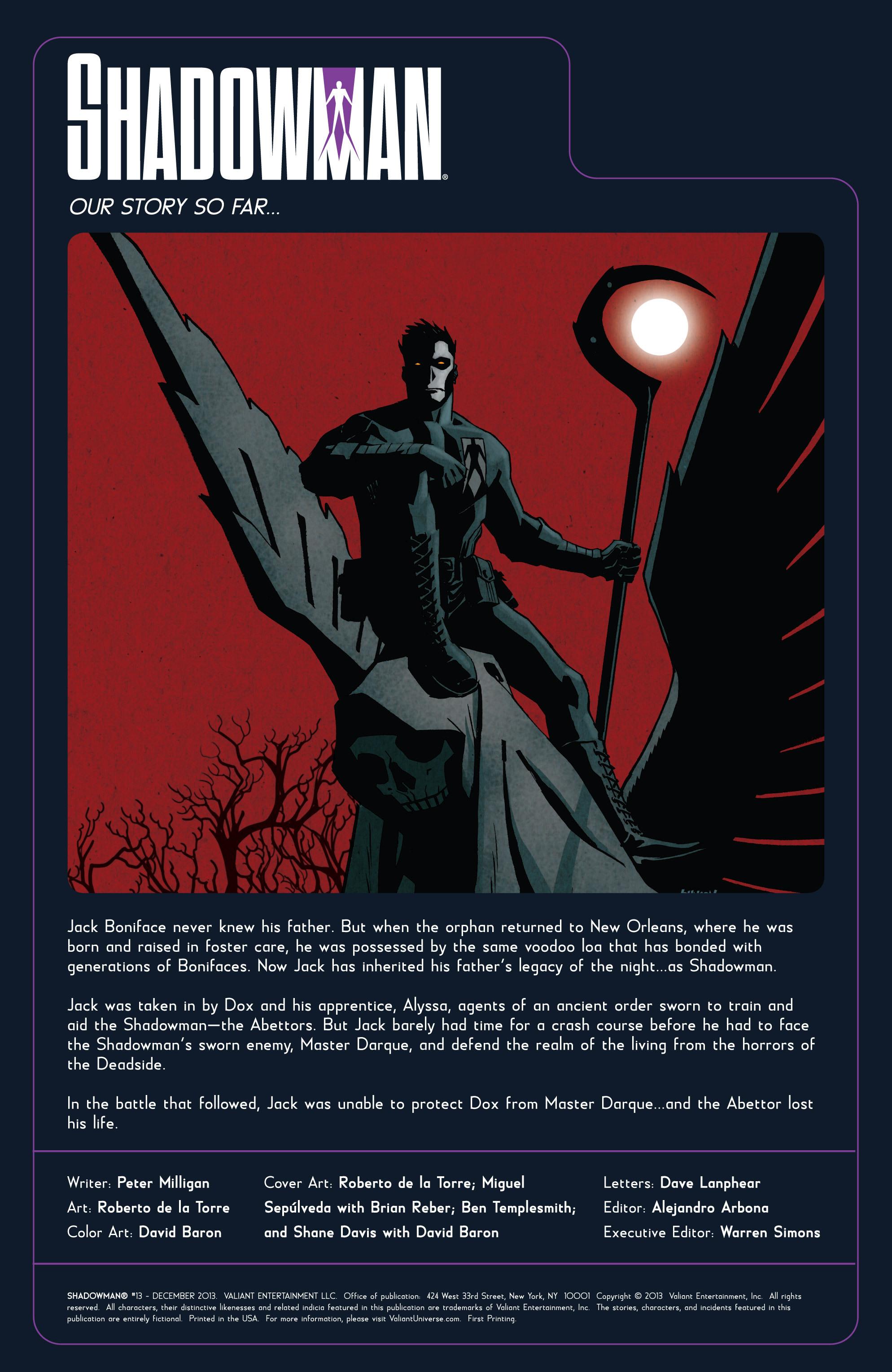 Read online Shadowman (2012) comic -  Issue #13 - 2