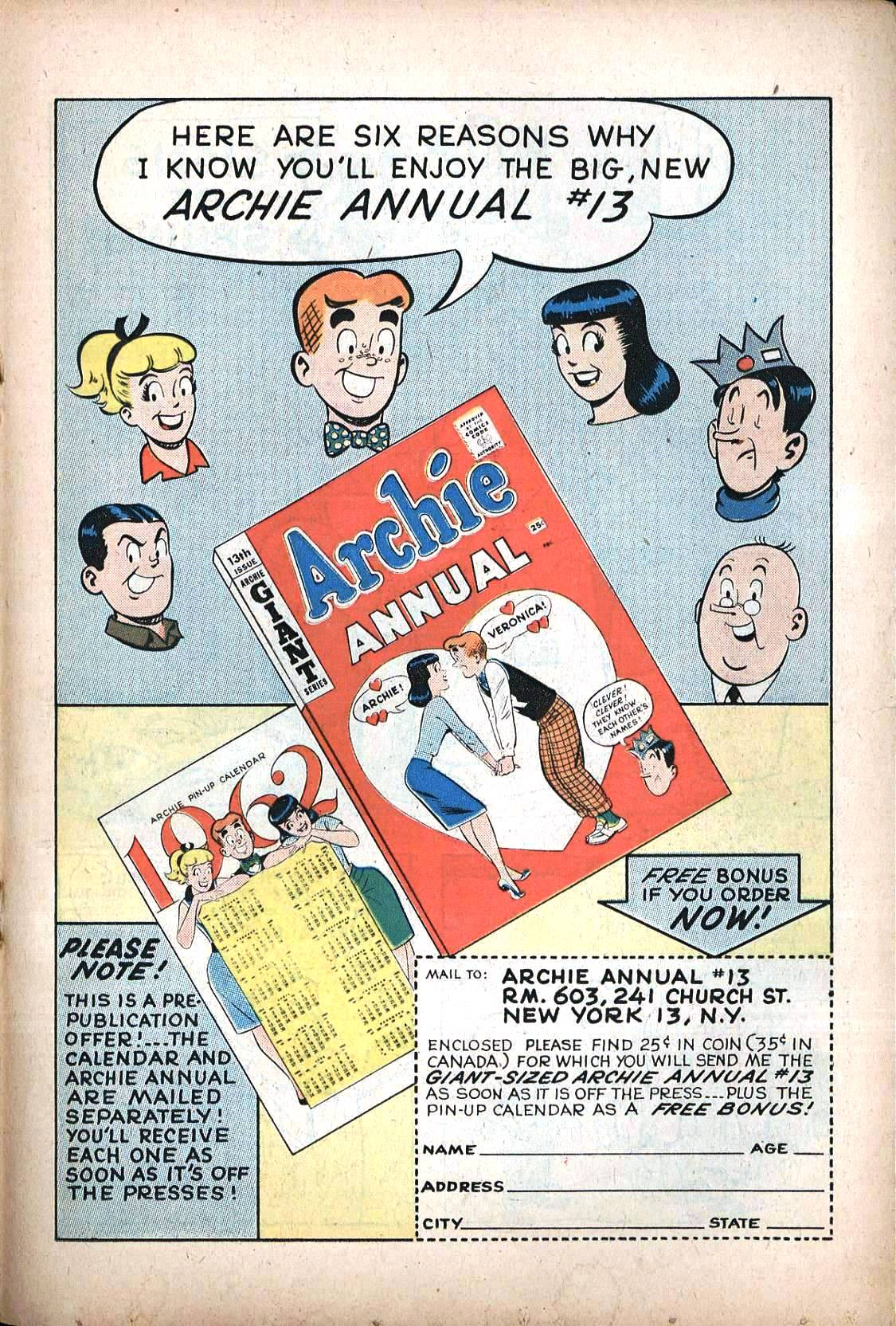 Read online Archie (1960) comic -  Issue #120 - 21