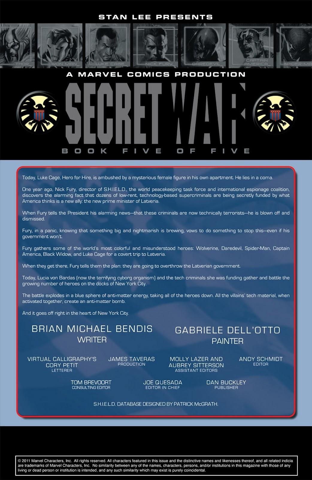 Read online Secret War comic -  Issue #5 - 2