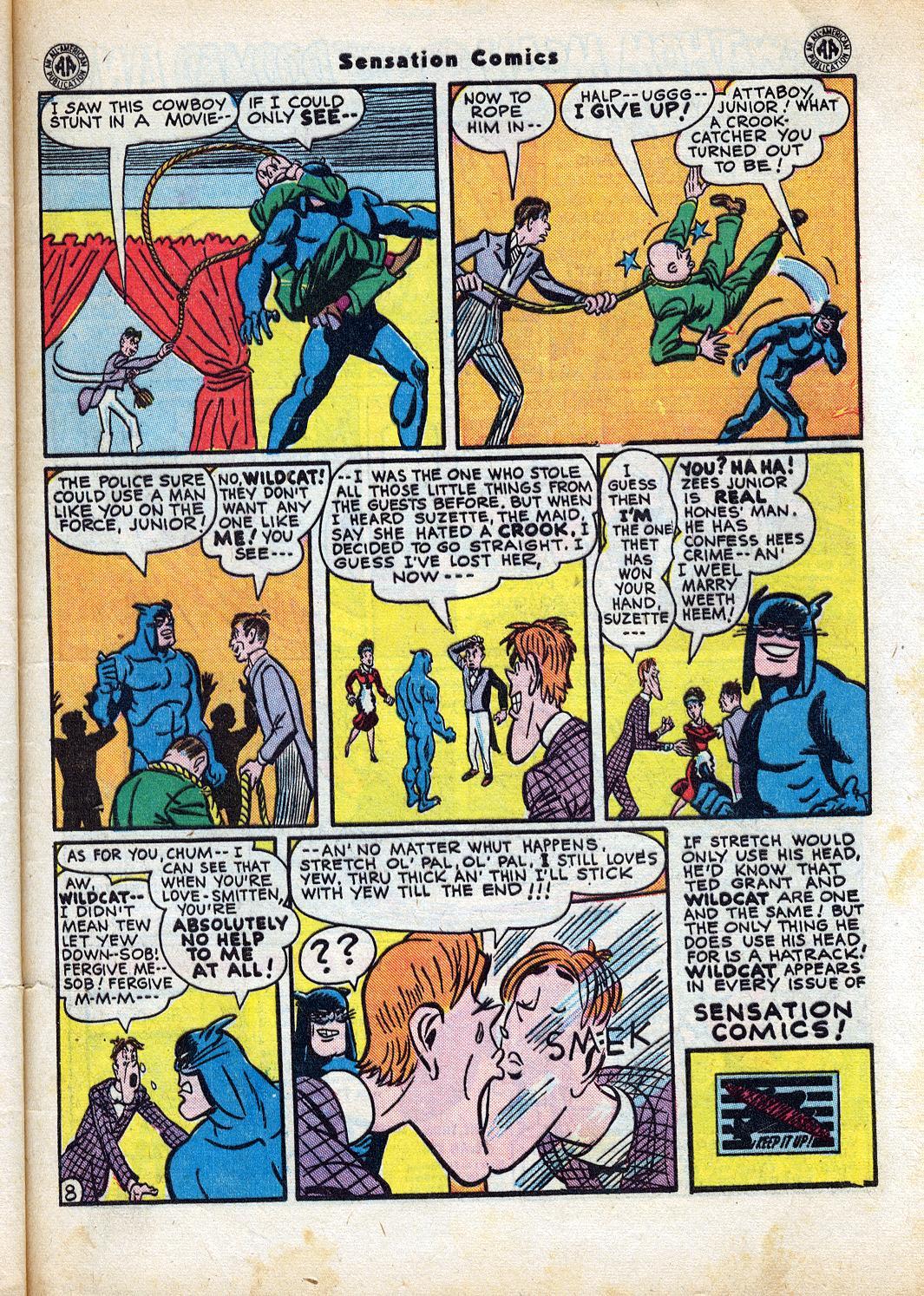 Read online Sensation (Mystery) Comics comic -  Issue #47 - 49